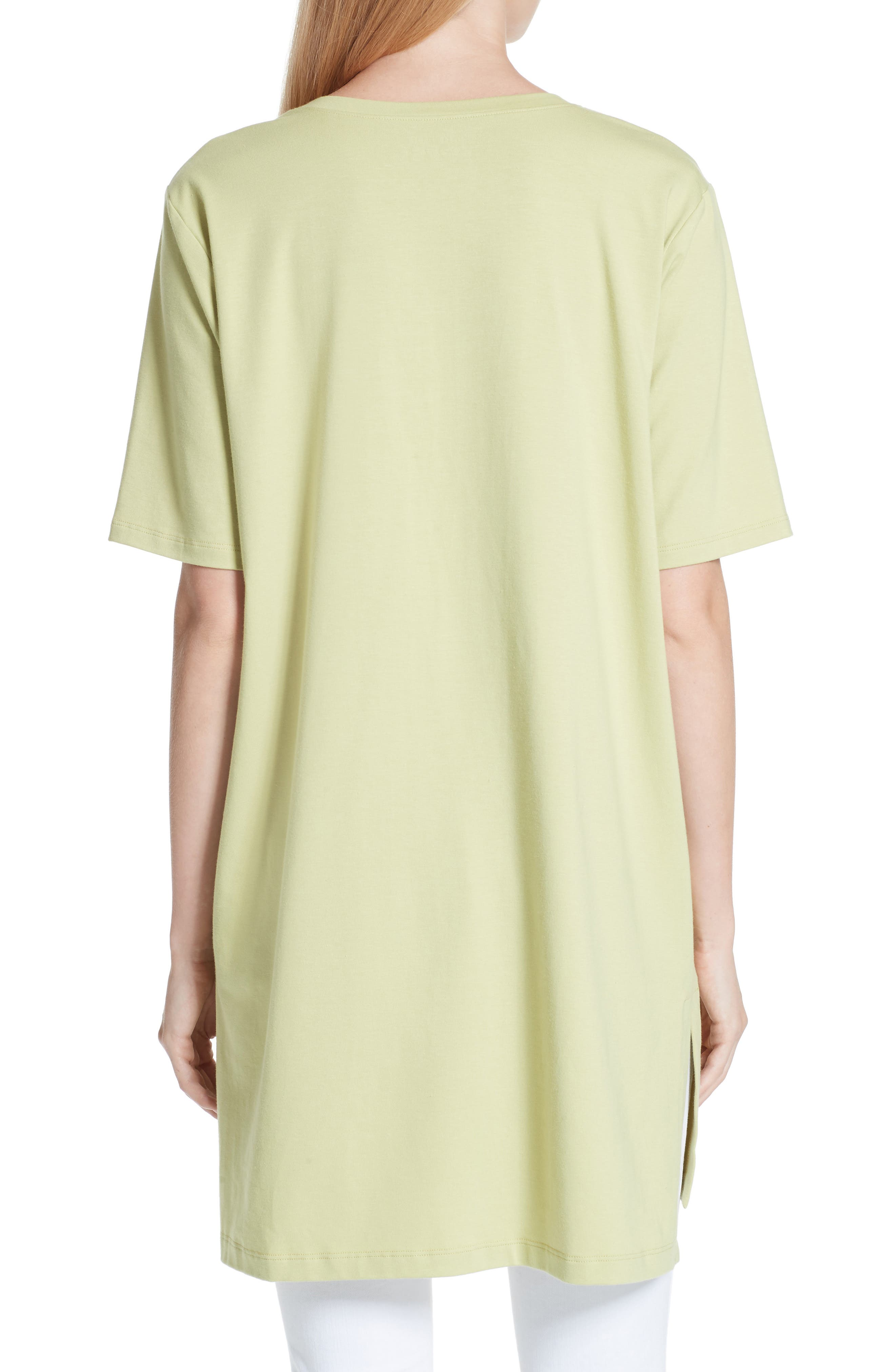 Stretch Organic Cotton Jersey Tunic,                             Alternate thumbnail 7, color,