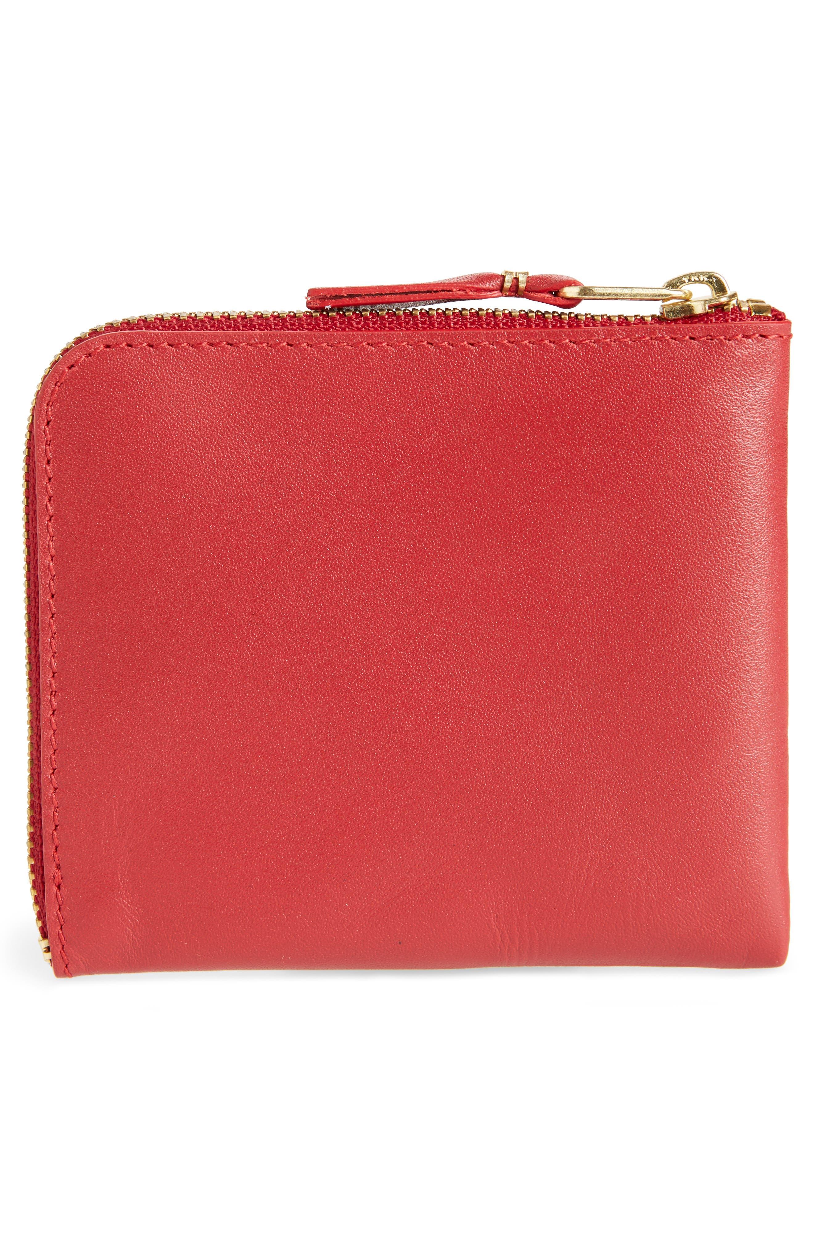 COMME DES GARÇONS,                             Classic Leather Line Wallet,                             Alternate thumbnail 3, color,                             600