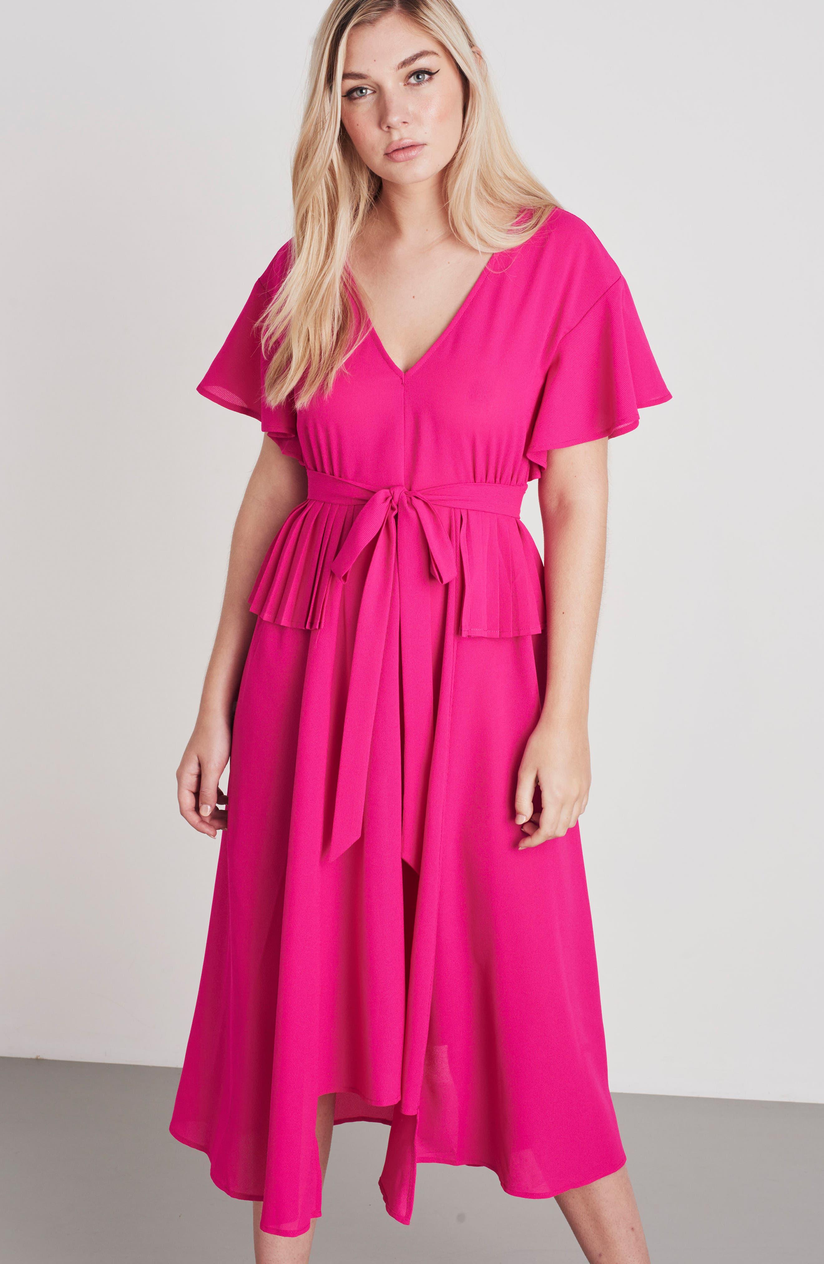 Chiffon Midi Dress,                             Alternate thumbnail 8, color,                             650