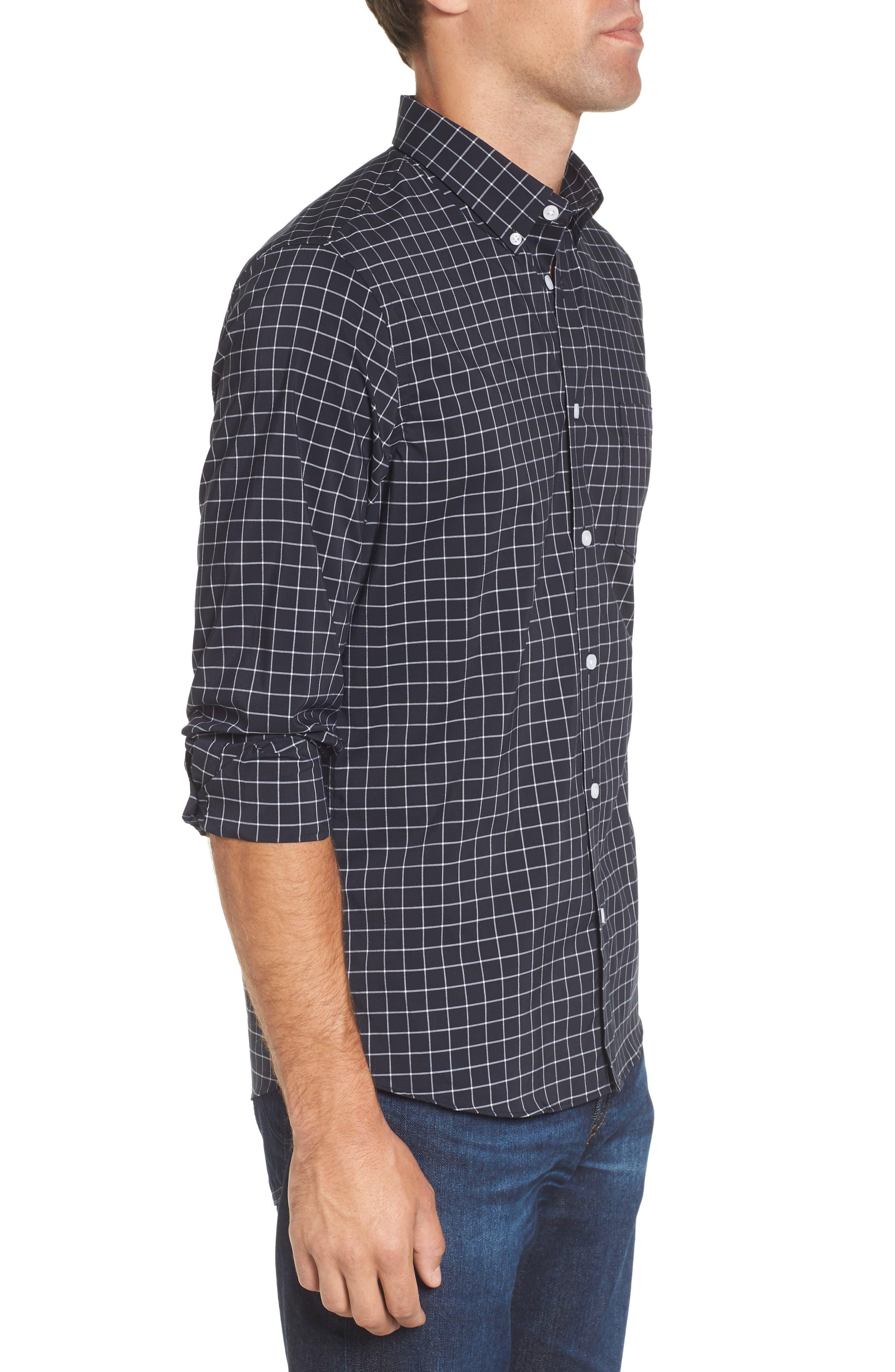 Slim Fit Tech-Smart Grid Sport Shirt,                             Alternate thumbnail 3, color,