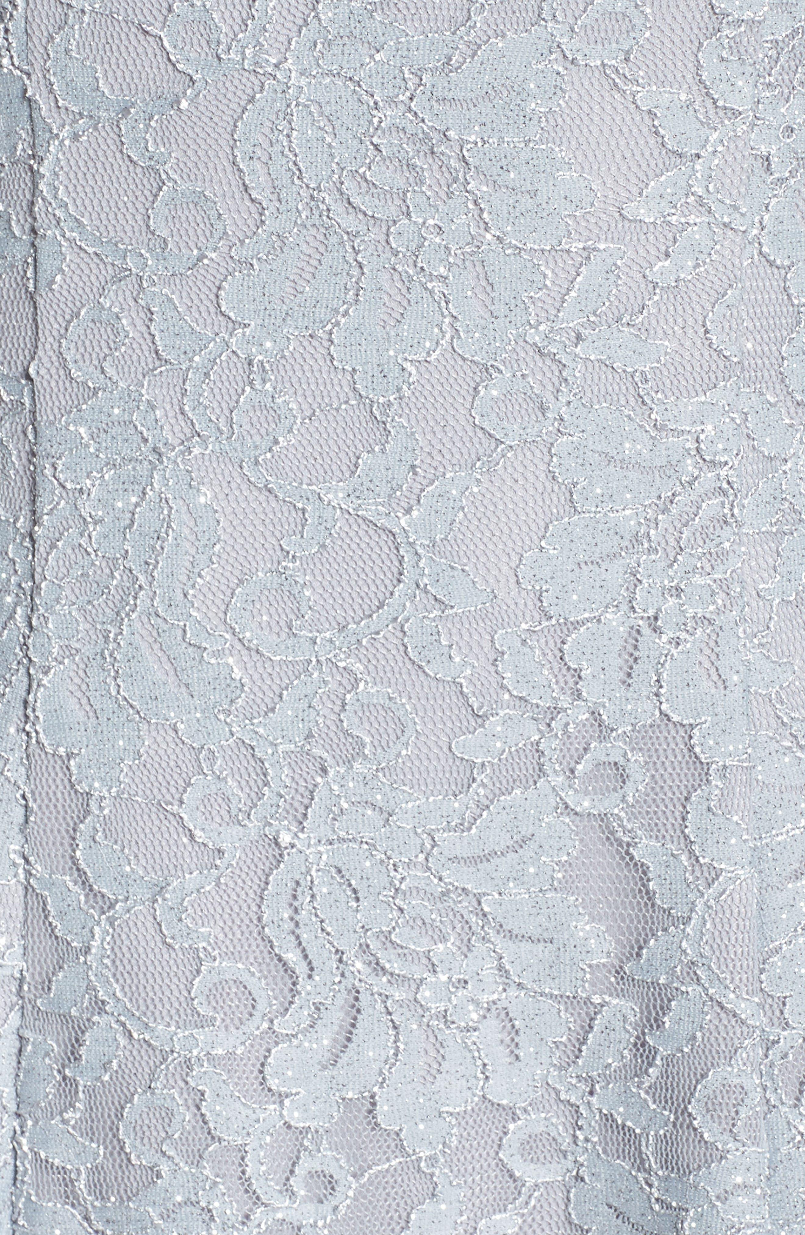 Lace Halter Neck Dress,                             Alternate thumbnail 5, color,