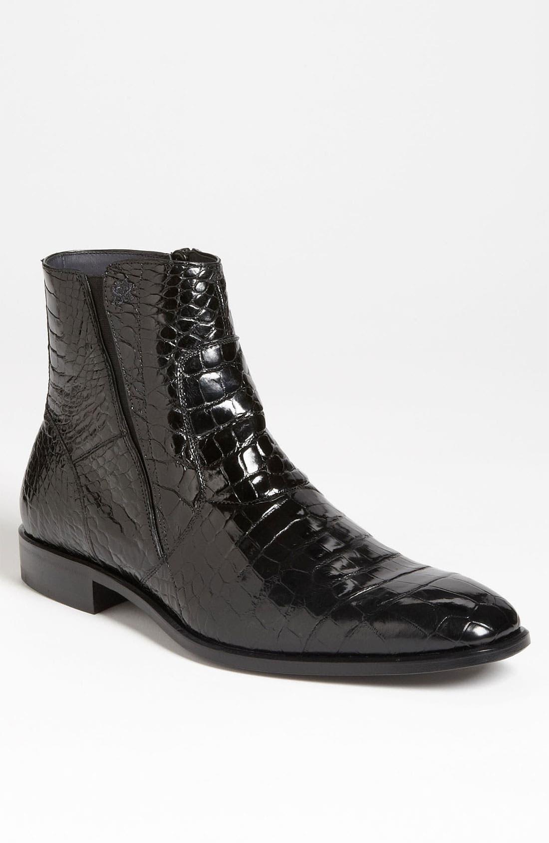 'Belucci' Alligator Boot,                         Main,                         color, 001