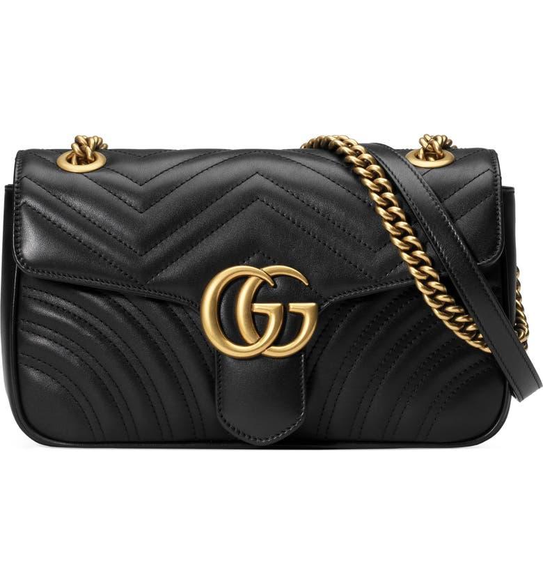 12b8da4f7416 Gucci Small Gg Marmont 2.0 Matelasse Leather Shoulder Bag - Black In Nero/  Nero