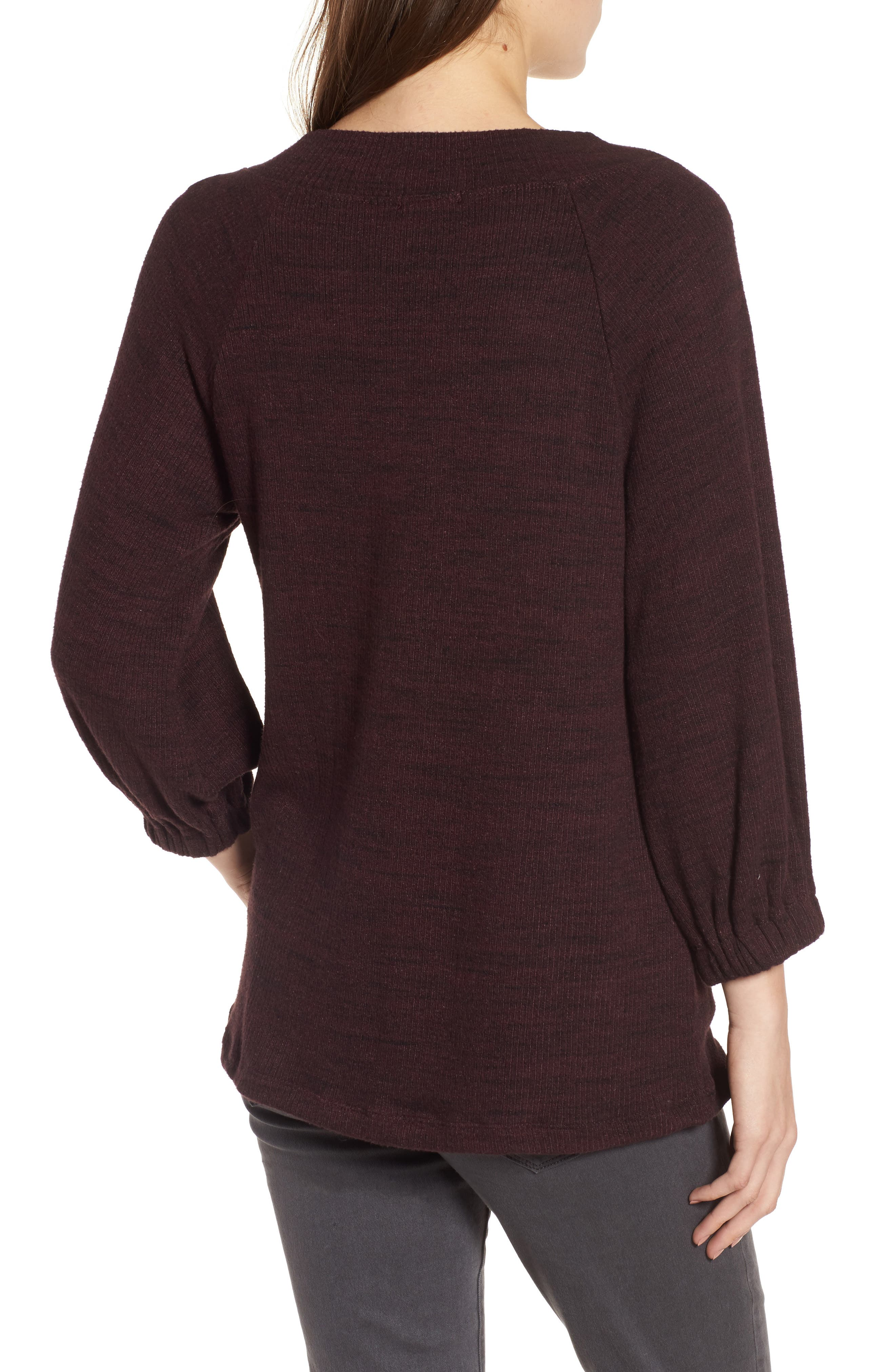 Triblend Ribbed Top,                             Alternate thumbnail 4, color,
