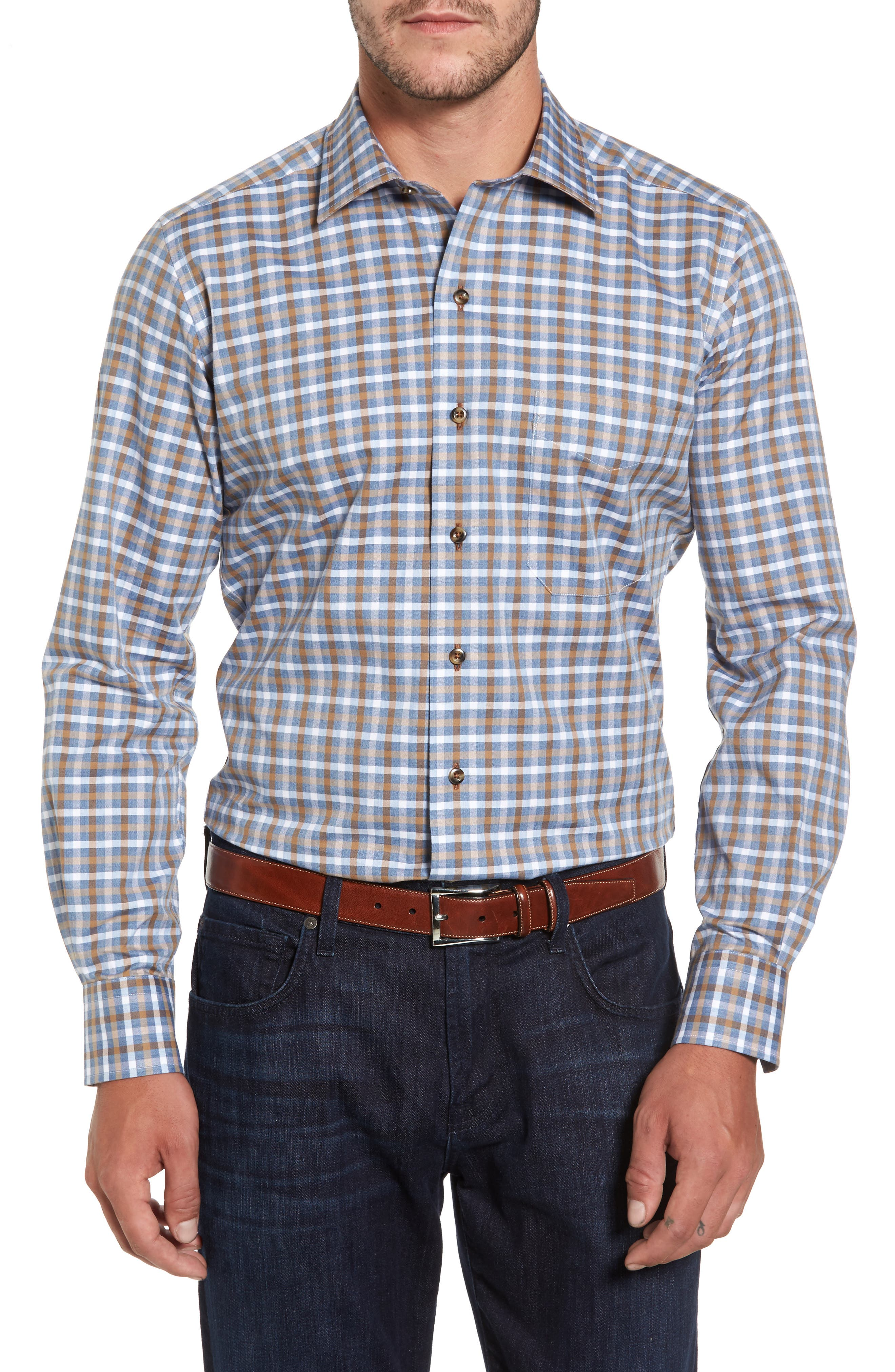 Plaid Regular Fit Sport Shirt,                             Main thumbnail 2, color,