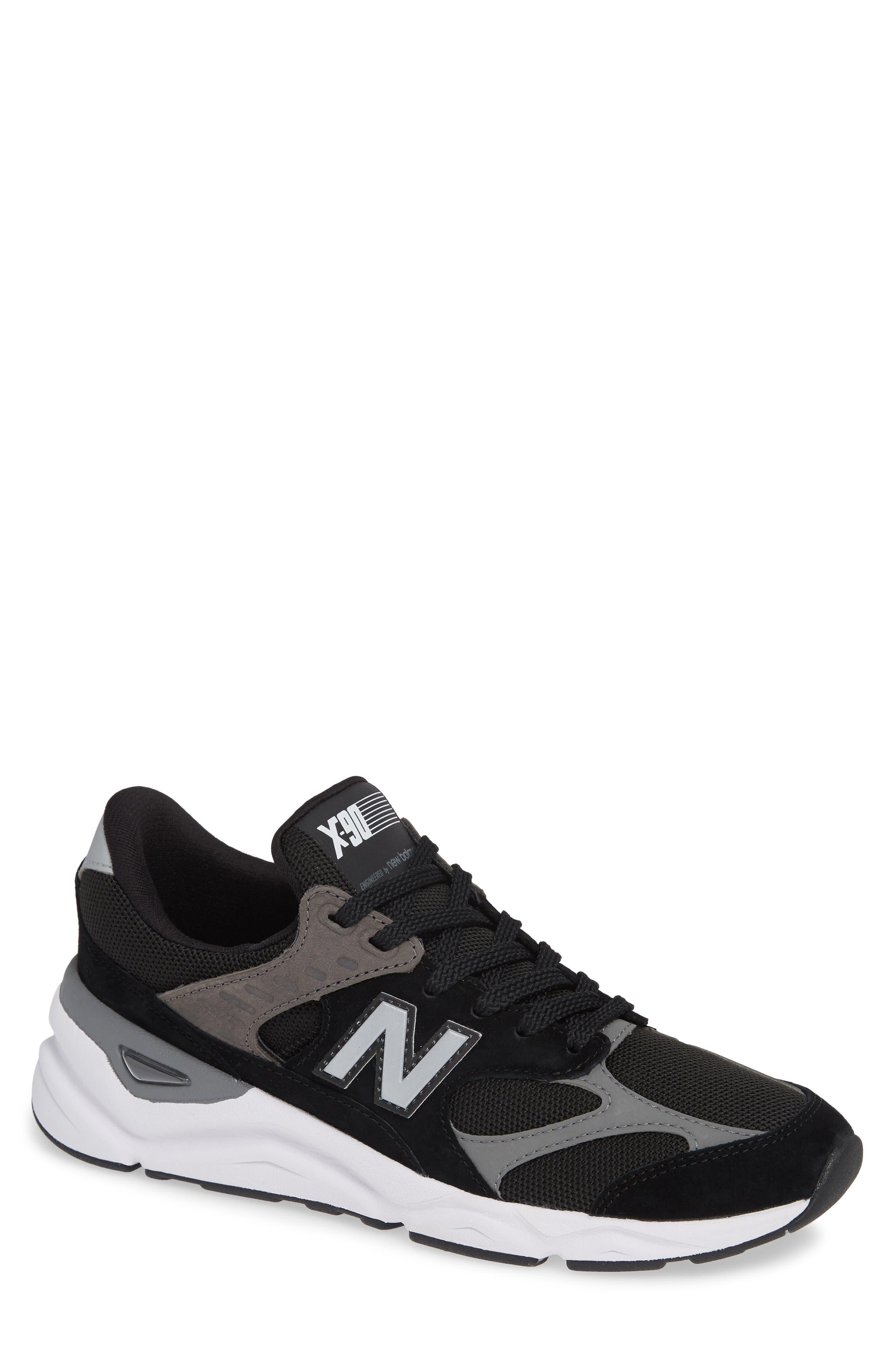 X-90 Sneaker,                         Main,                         color, BLACK