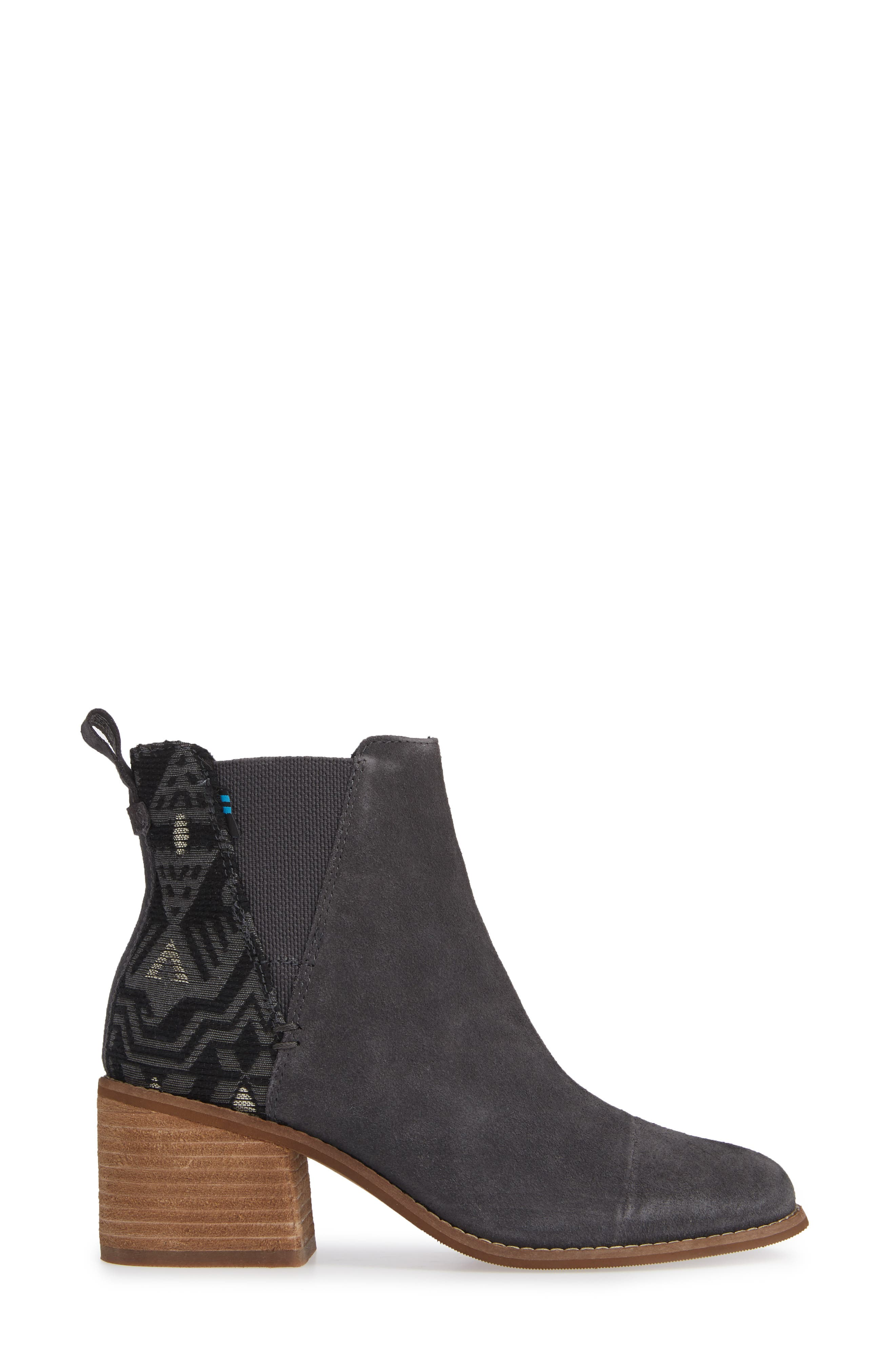 Esme Bootie,                             Alternate thumbnail 3, color,                             FORGED IRON SUEDE