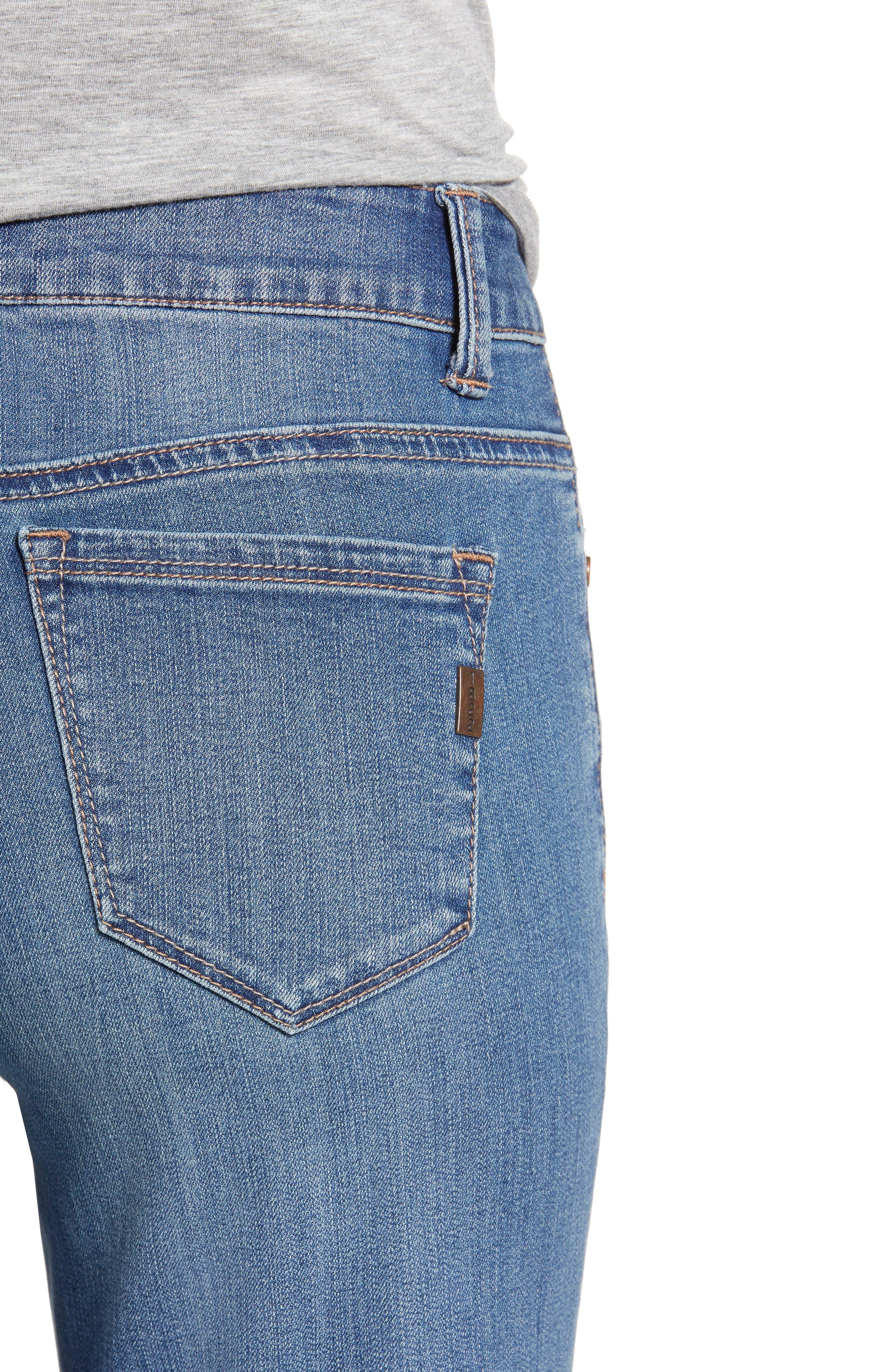 Ankle Straight Leg Jeans,                             Alternate thumbnail 4, color,                             KORN LIGHT WASH