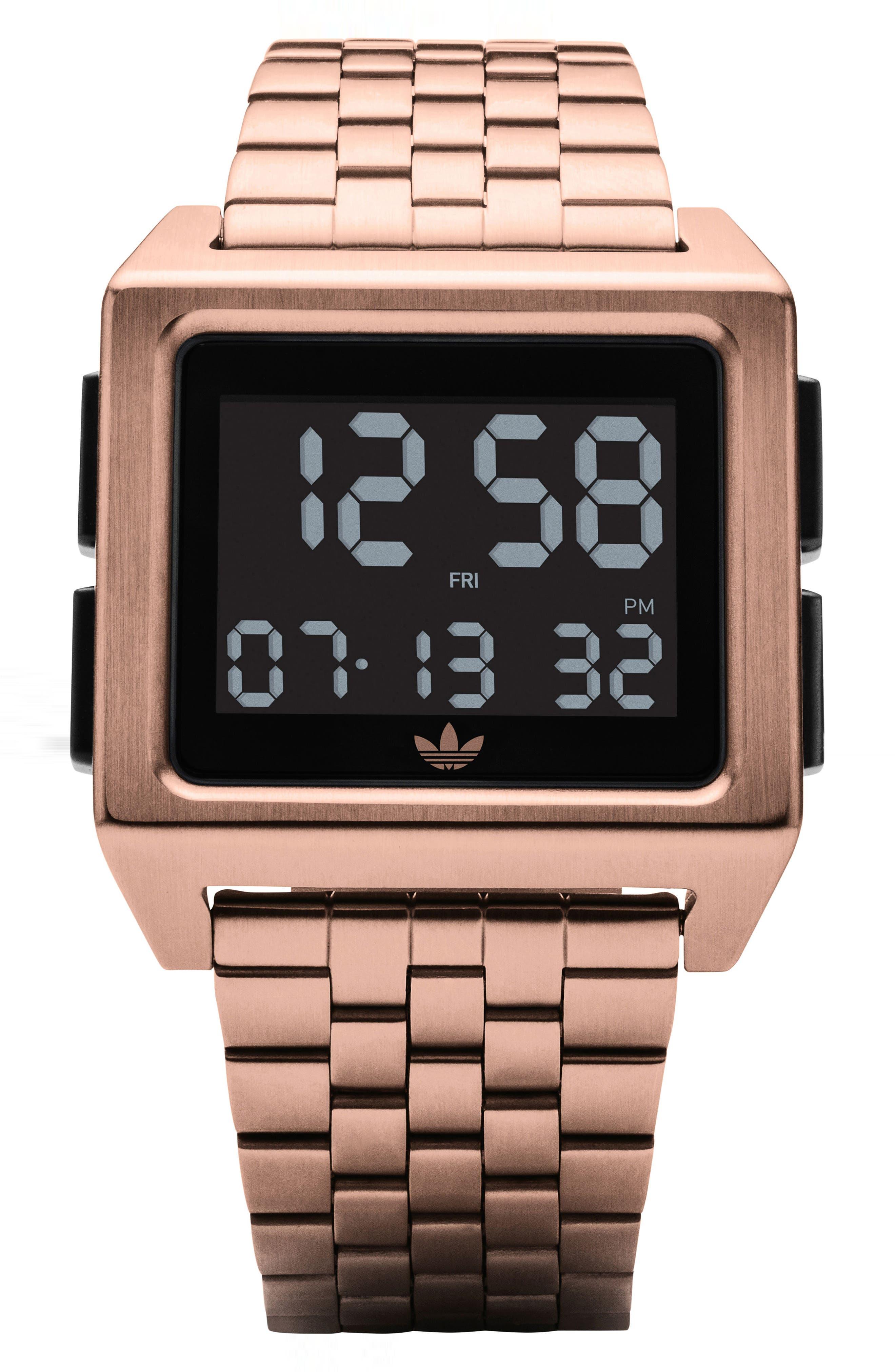 Archive Digital Bracelet Watch, 36mm,                             Main thumbnail 1, color,                             ROSE GOLD