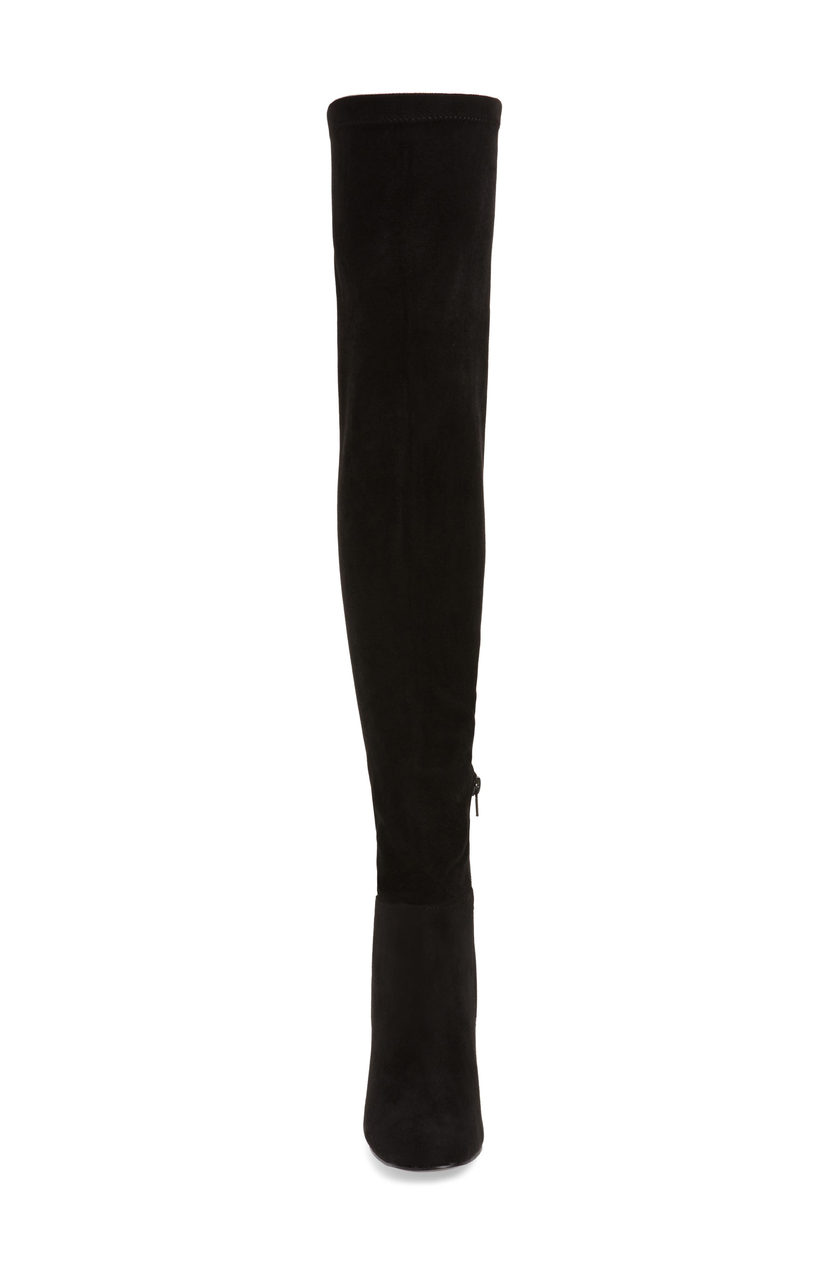 King Over the Knee Boot,                             Alternate thumbnail 4, color,                             BLACK
