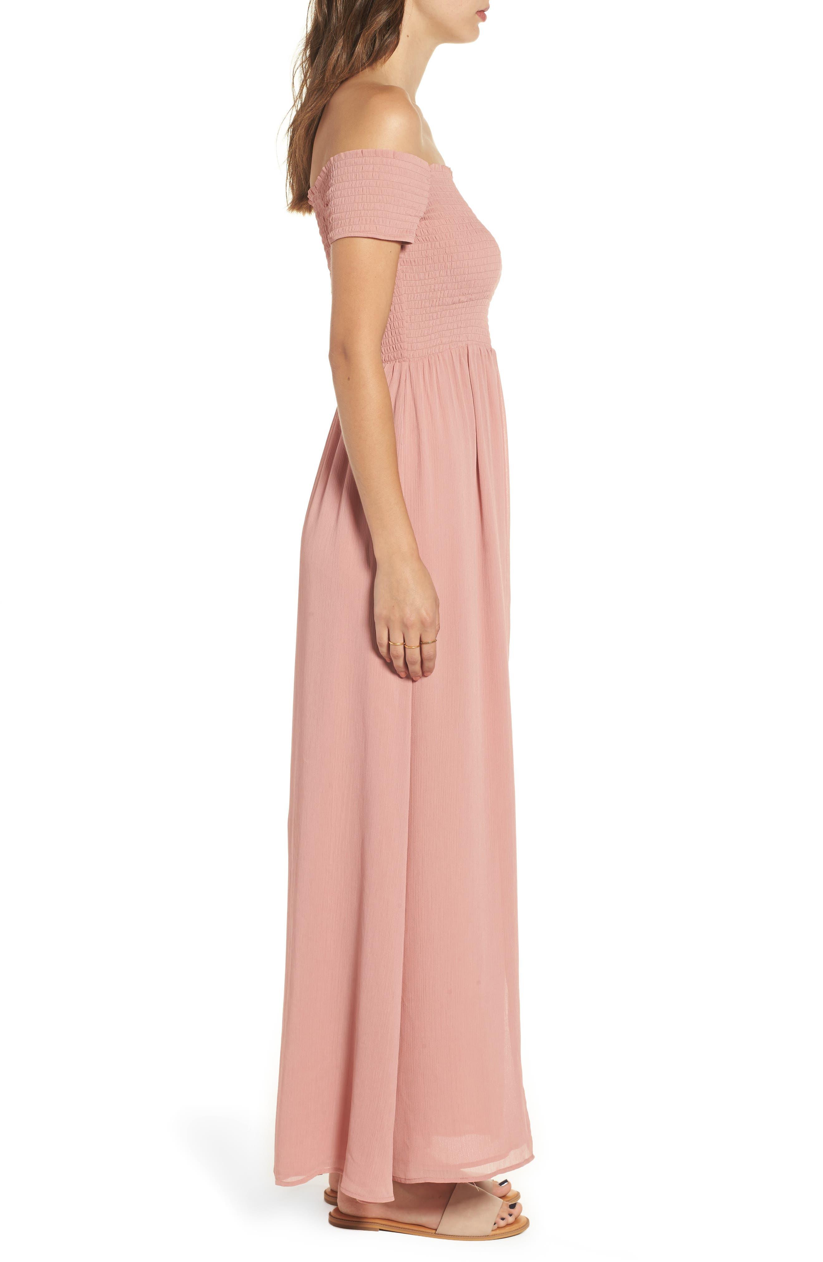 Henderson Print Off the Shoulder Maxi Dress,                             Alternate thumbnail 3, color,                             650