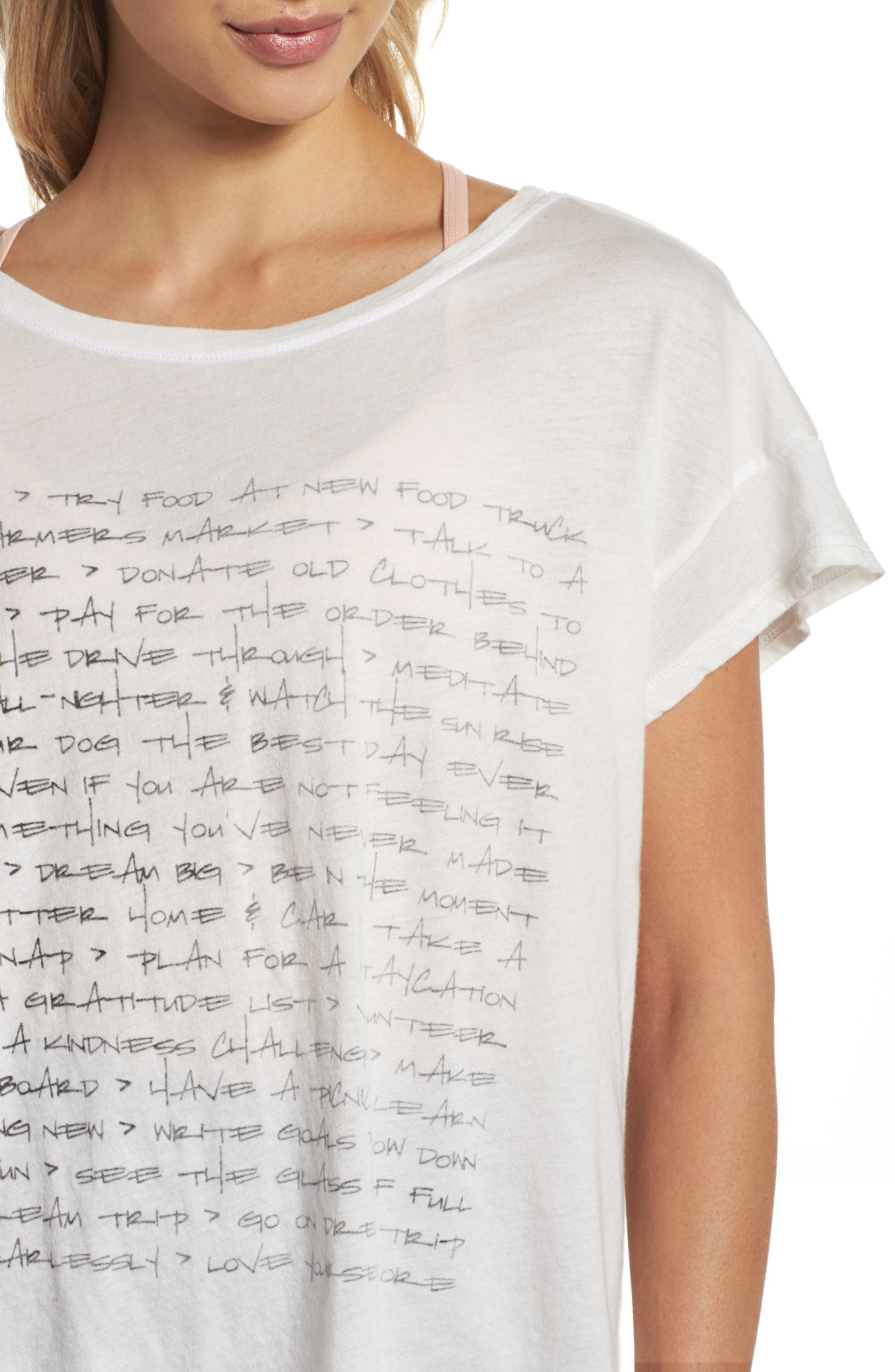 Claire To Do List Graphic Shirt,                             Alternate thumbnail 4, color,                             100