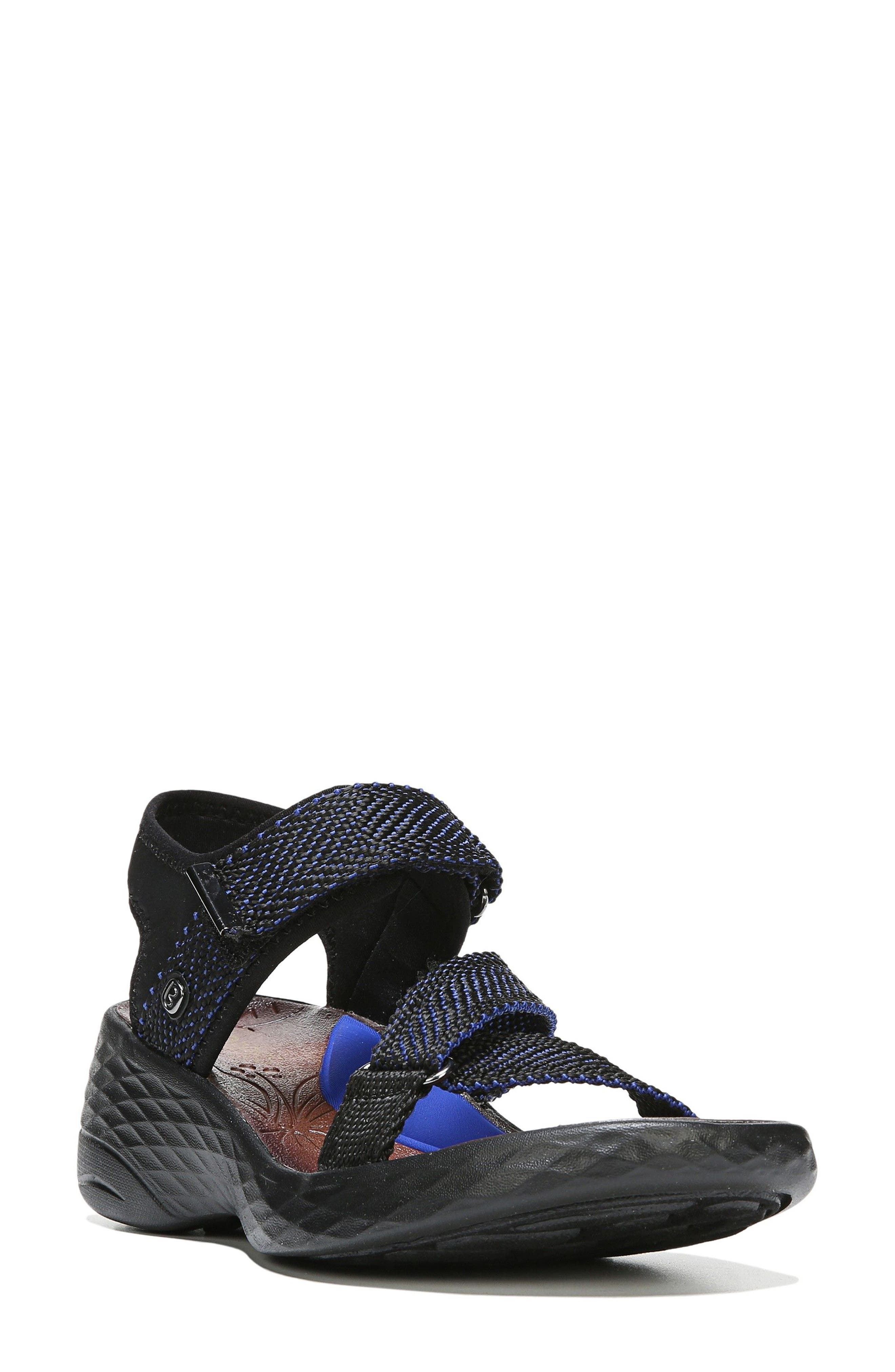 Jive Sandal,                             Main thumbnail 1, color,                             BLUE WEBBING FABRIC