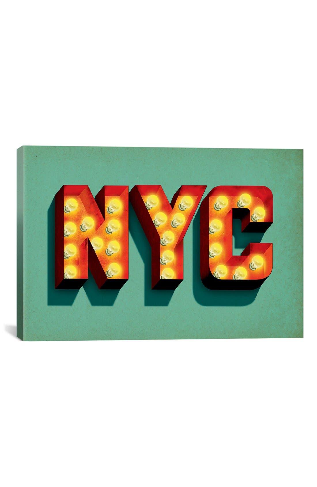 'NYC' Giclée Print Canvas Art,                             Main thumbnail 1, color,                             300