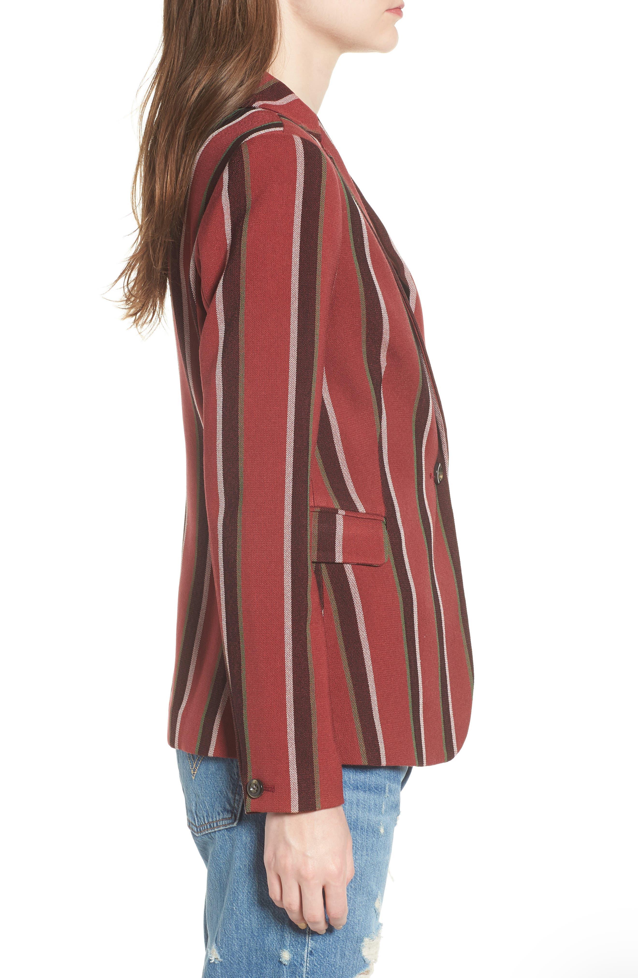 Stripe Blazer,                             Alternate thumbnail 3, color,                             600