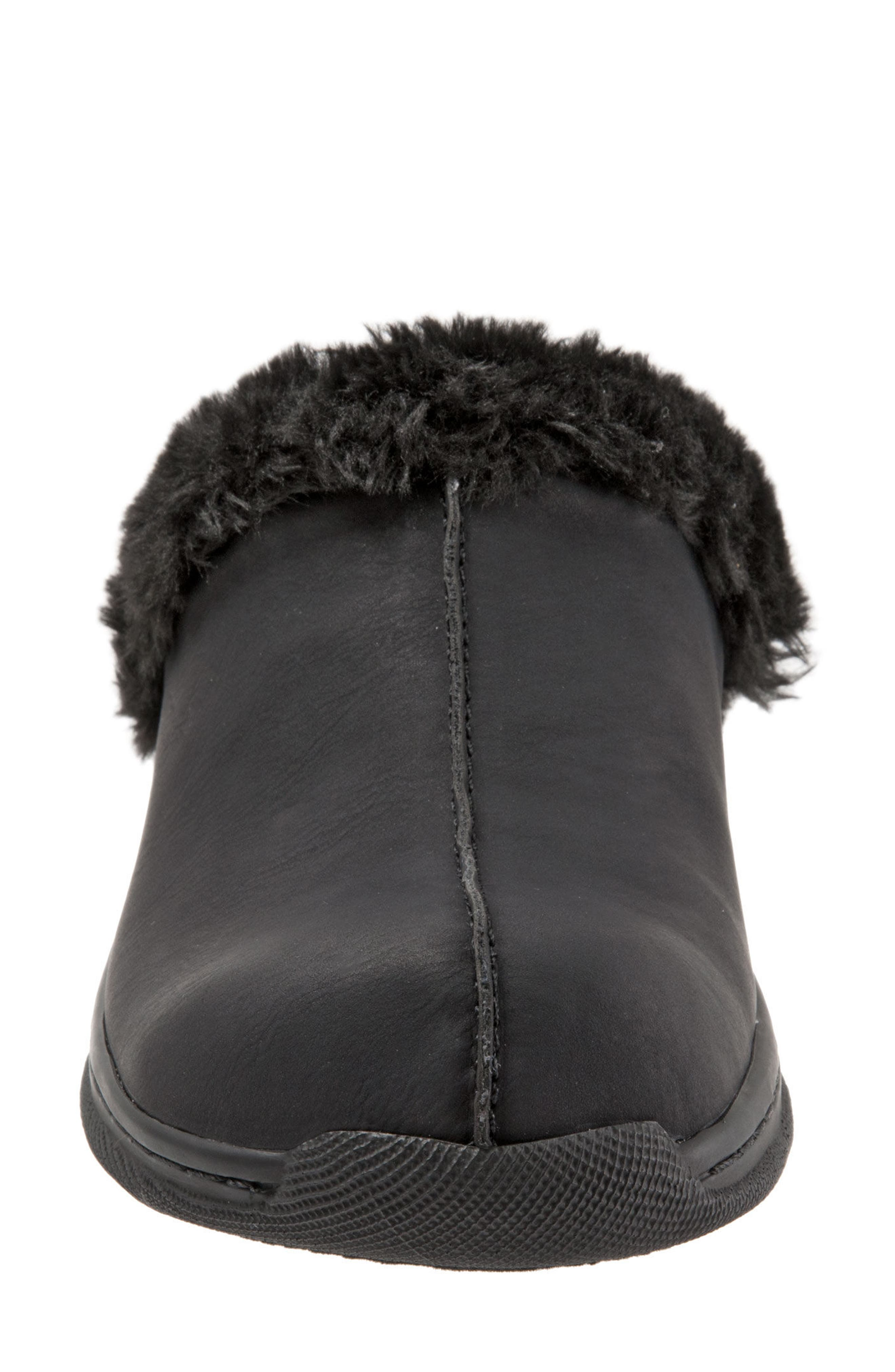 Abigail Clog with Faux Shearling Trim,                             Alternate thumbnail 4, color,                             004
