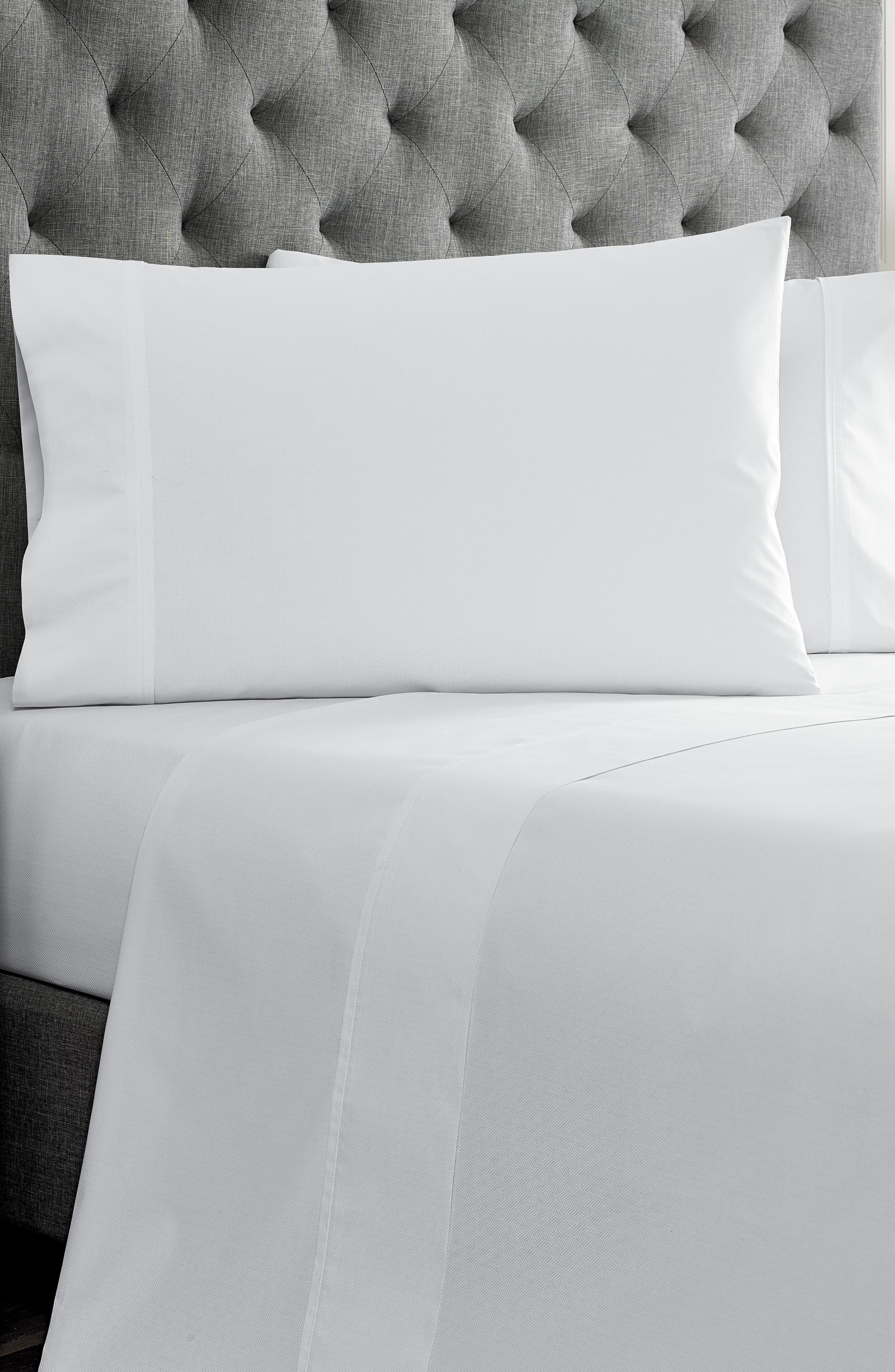 Robinson Herringbone Pillowcases,                             Main thumbnail 1, color,