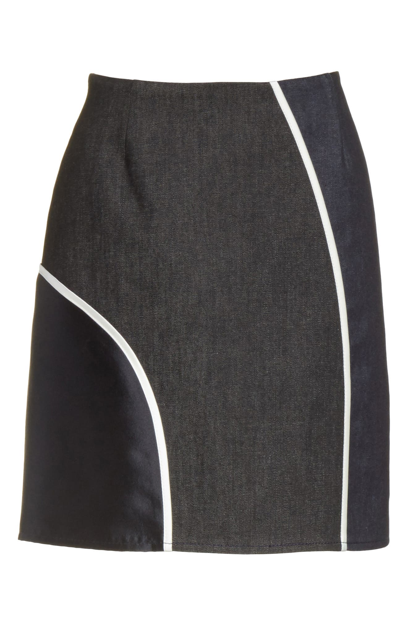 Roberto Mixed Media Skirt,                             Alternate thumbnail 6, color,                             400