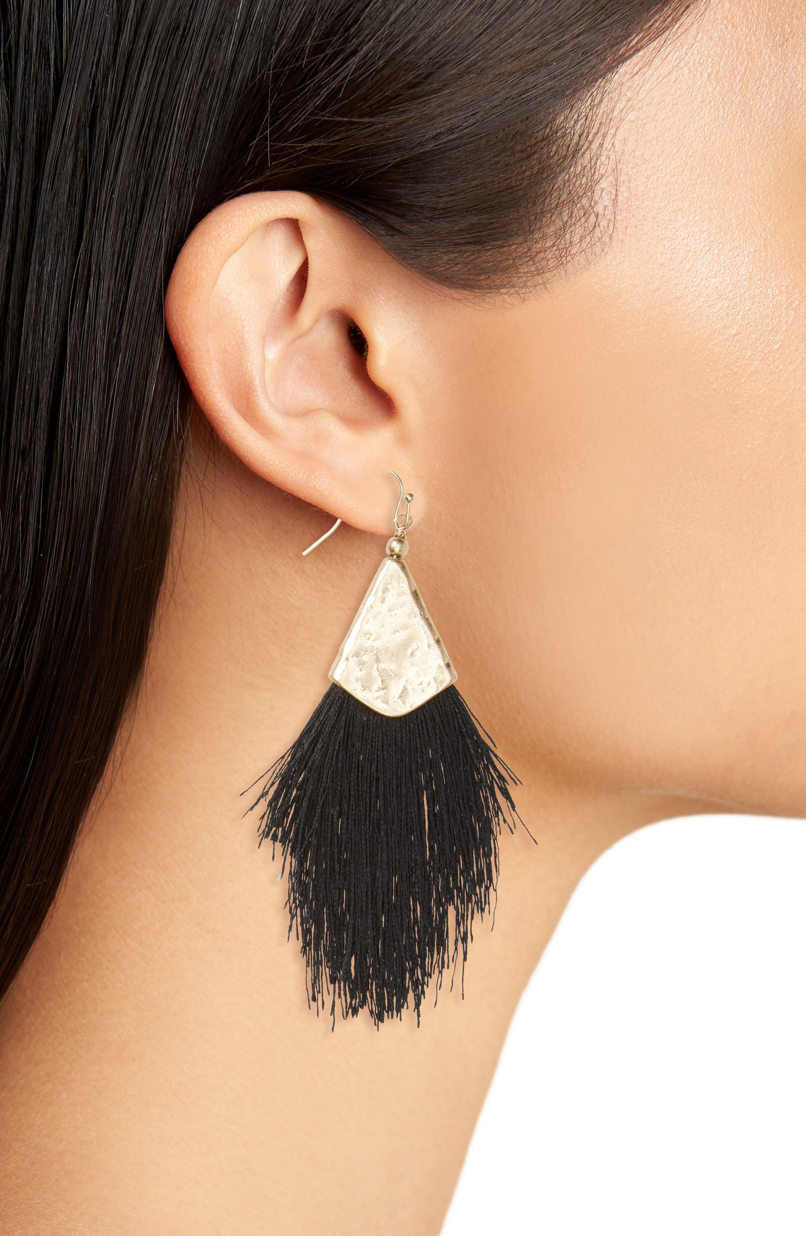 Fan Tassel Earrings,                             Alternate thumbnail 5, color,