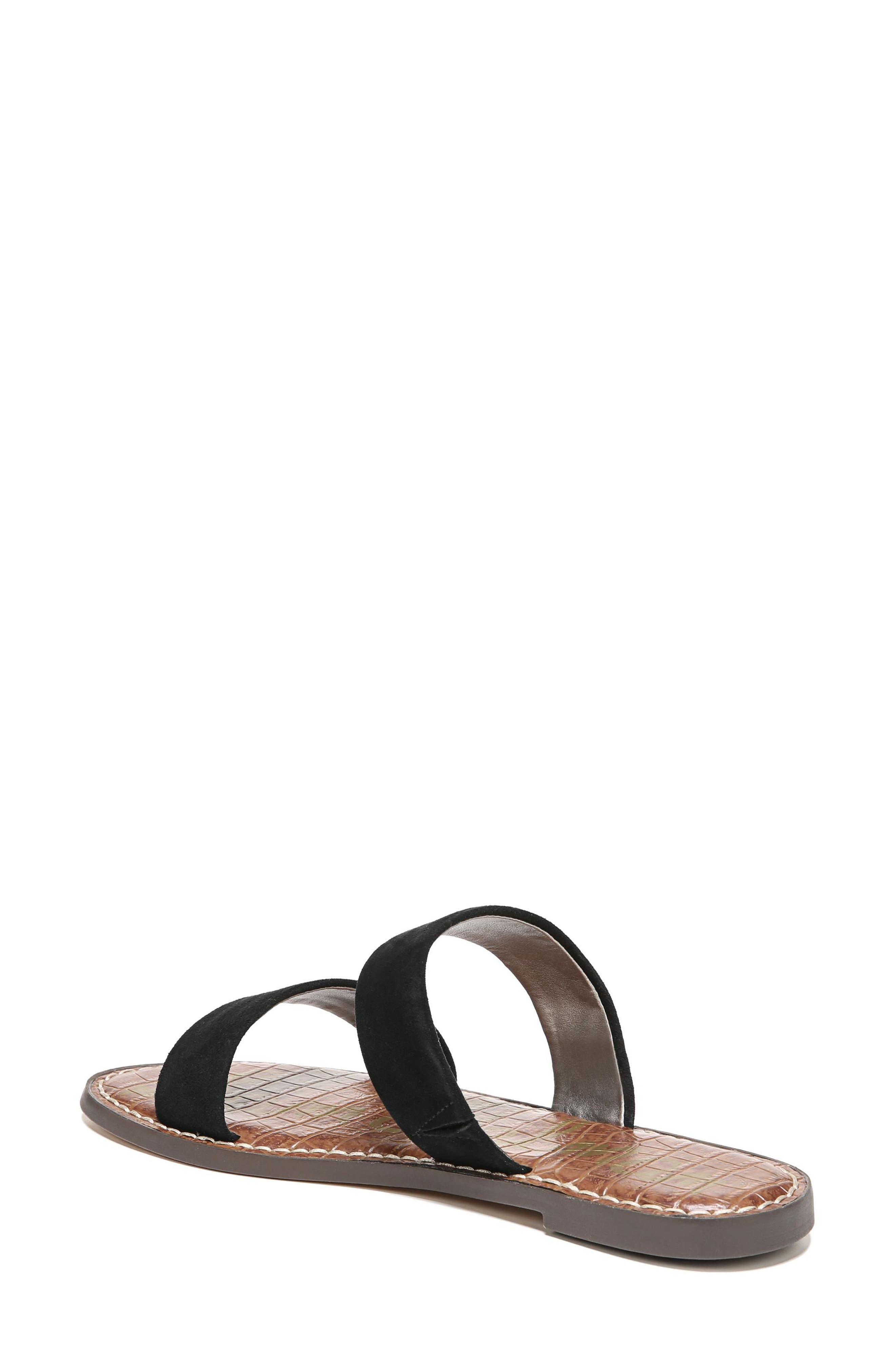 Gala Two Strap Slide Sandal,                             Alternate thumbnail 2, color,                             BLACK SUEDE