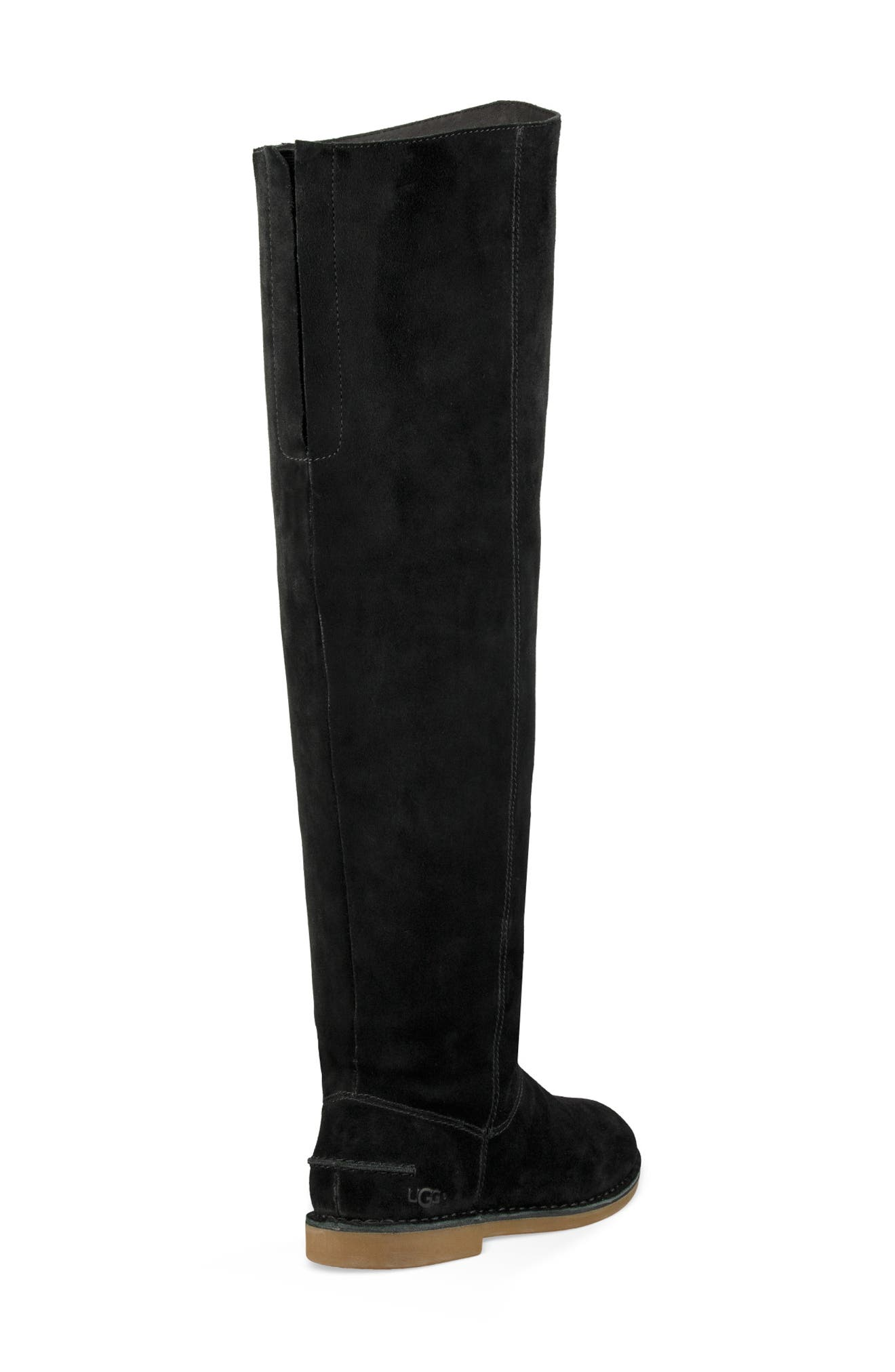 Loma Over the Knee Boot,                             Alternate thumbnail 2, color,                             BLACK SUEDE