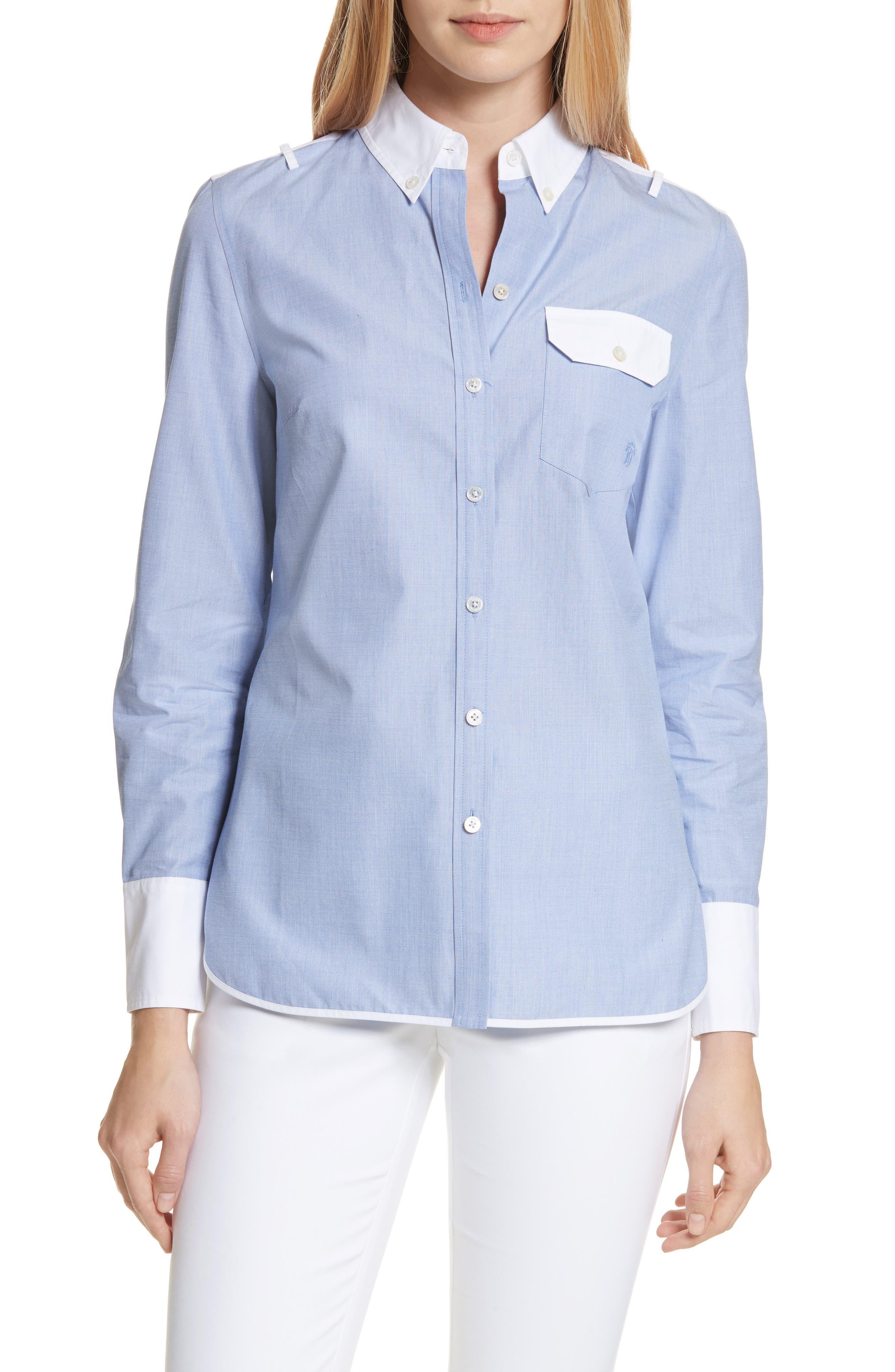 Piper Contrast Cotton Top,                         Main,                         color, 422