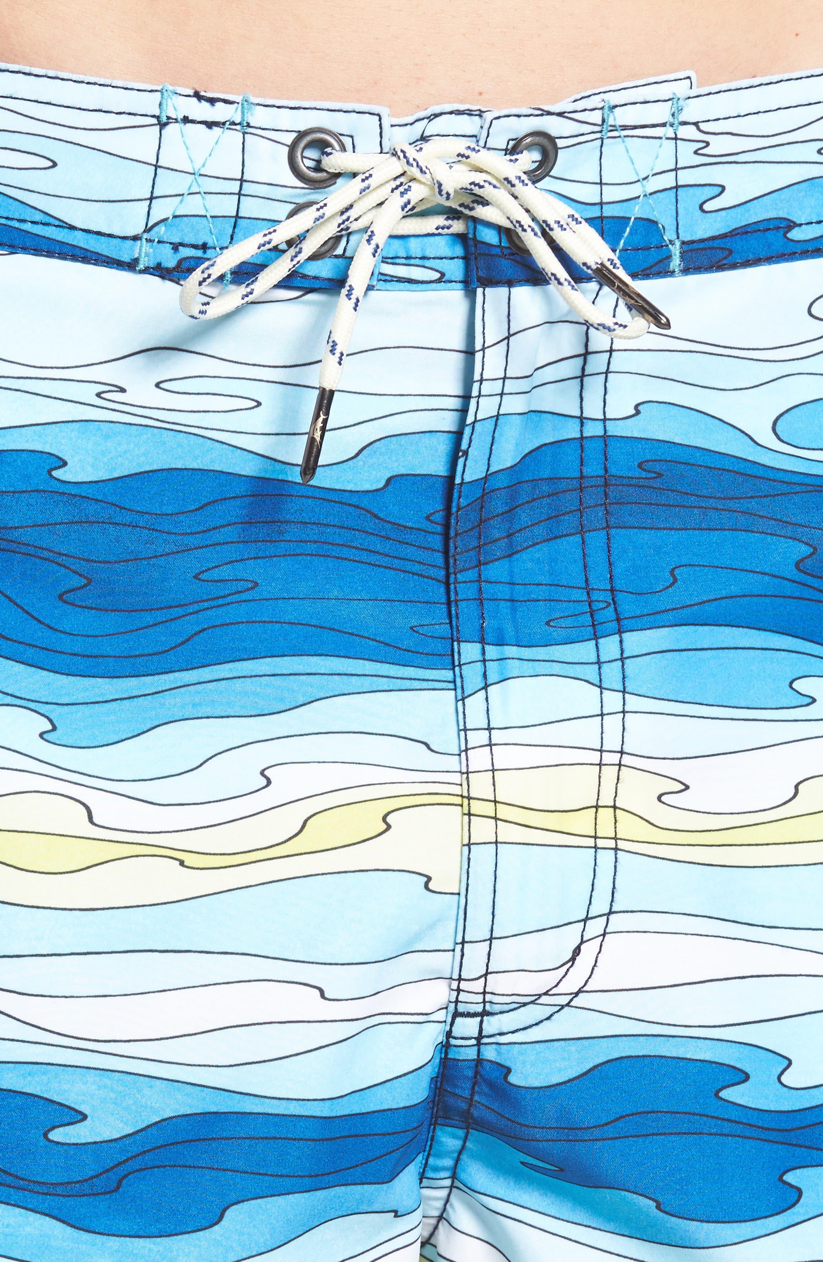 Baja Aegean Swim Trunks,                             Alternate thumbnail 4, color,                             400