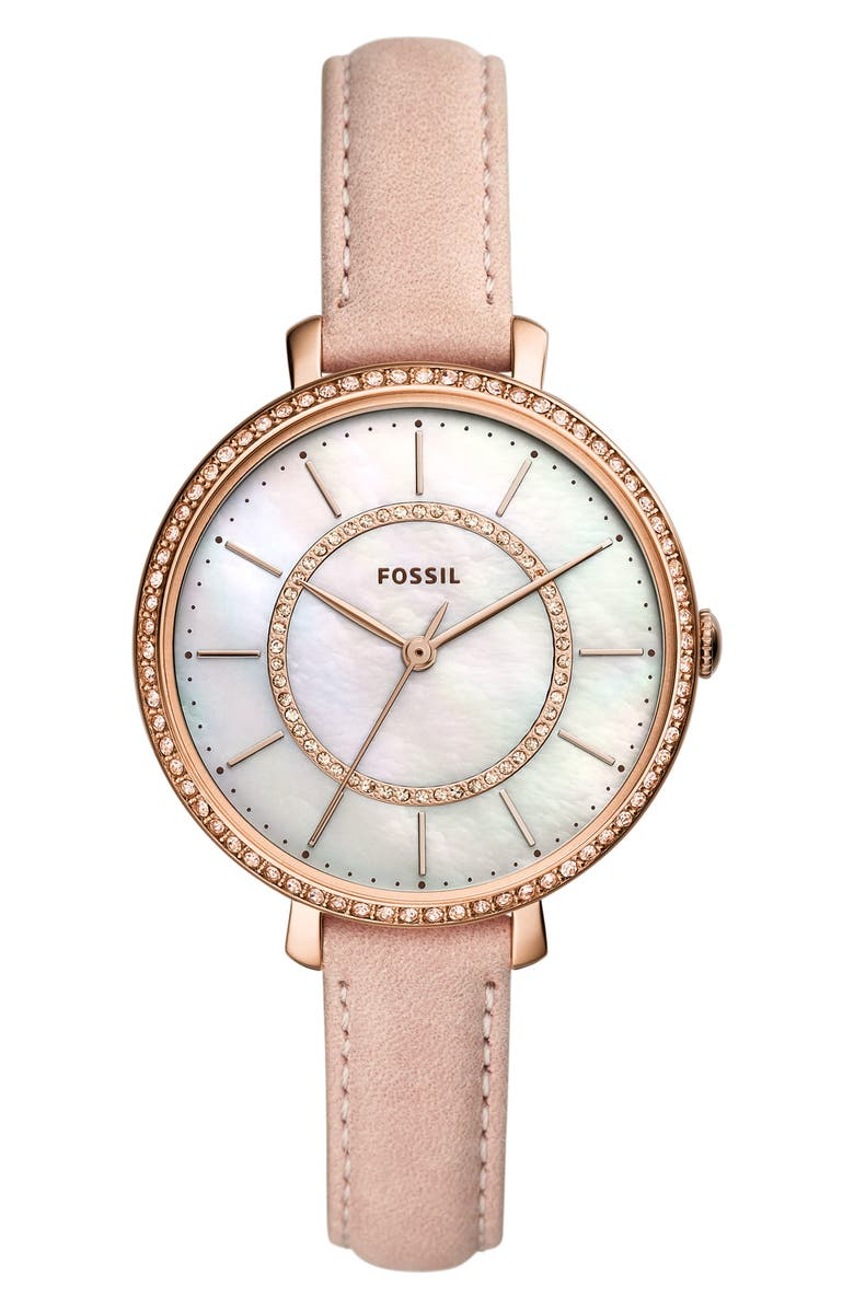Fossil JOCELYN LEATHER STRAP WATCH, 36MM