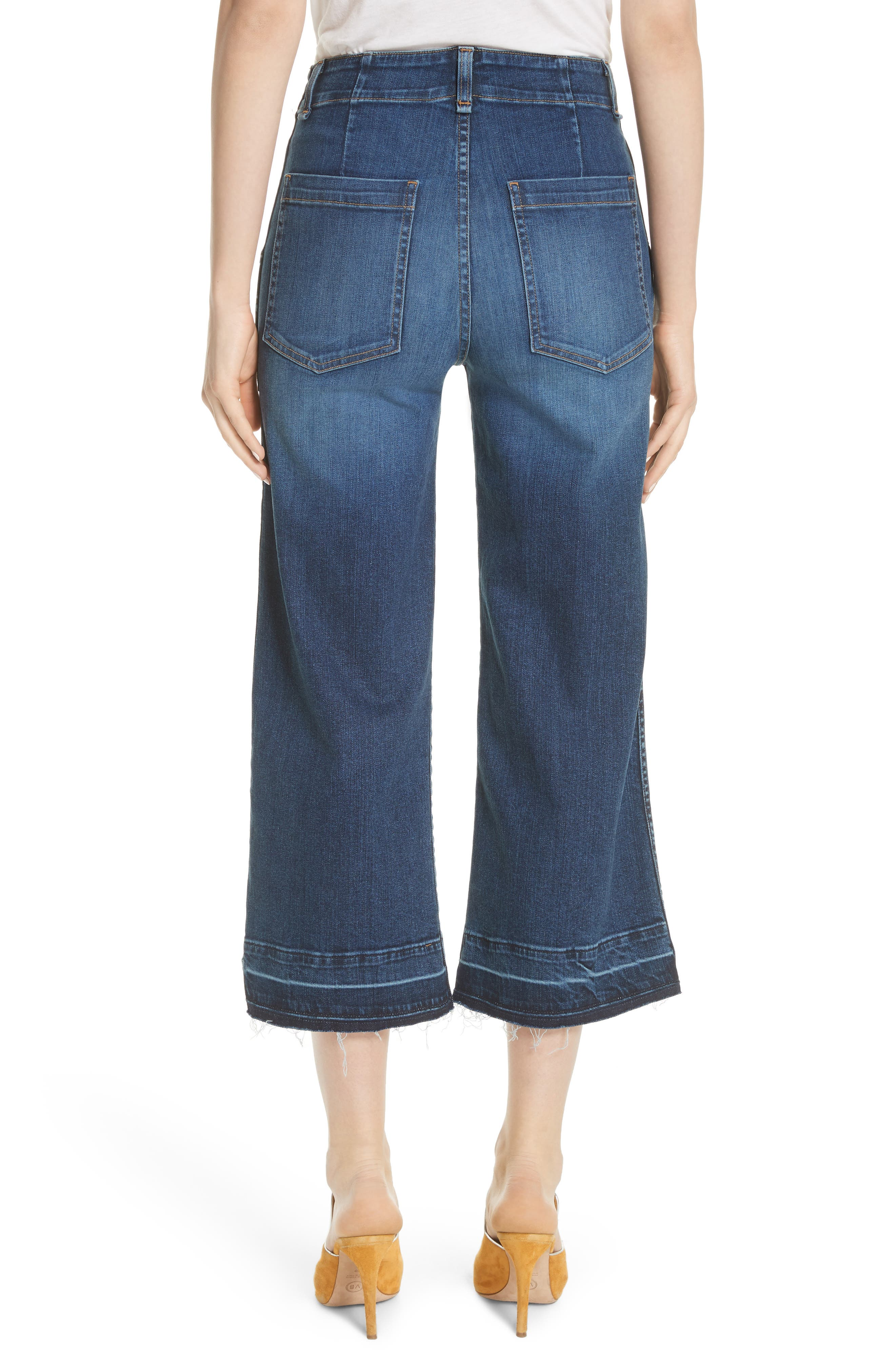 Lou Released Hem Gaucho Jeans,                             Alternate thumbnail 2, color,                             411