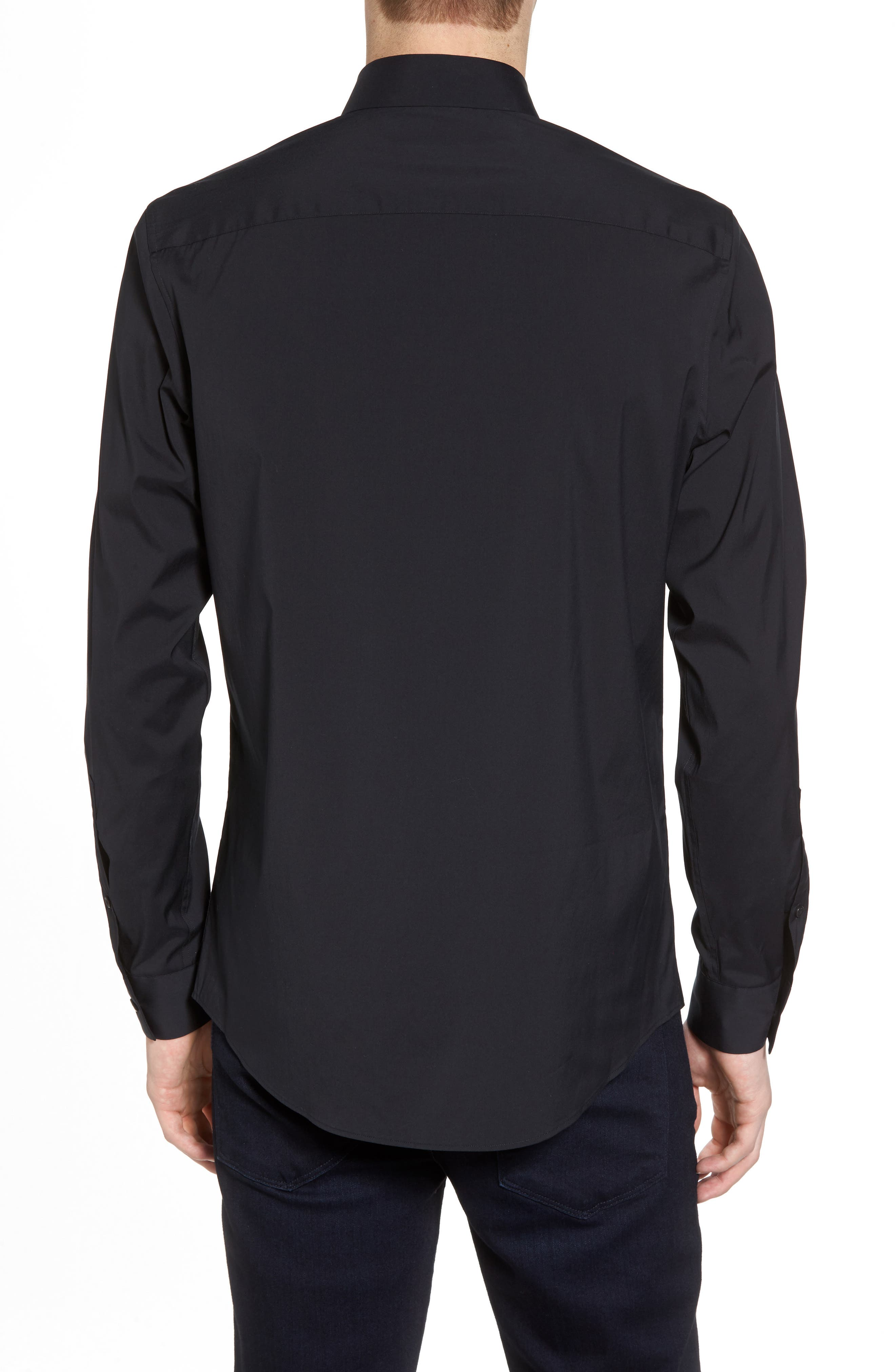 Slim Fit Stretch Sport Shirt,                             Alternate thumbnail 2, color,