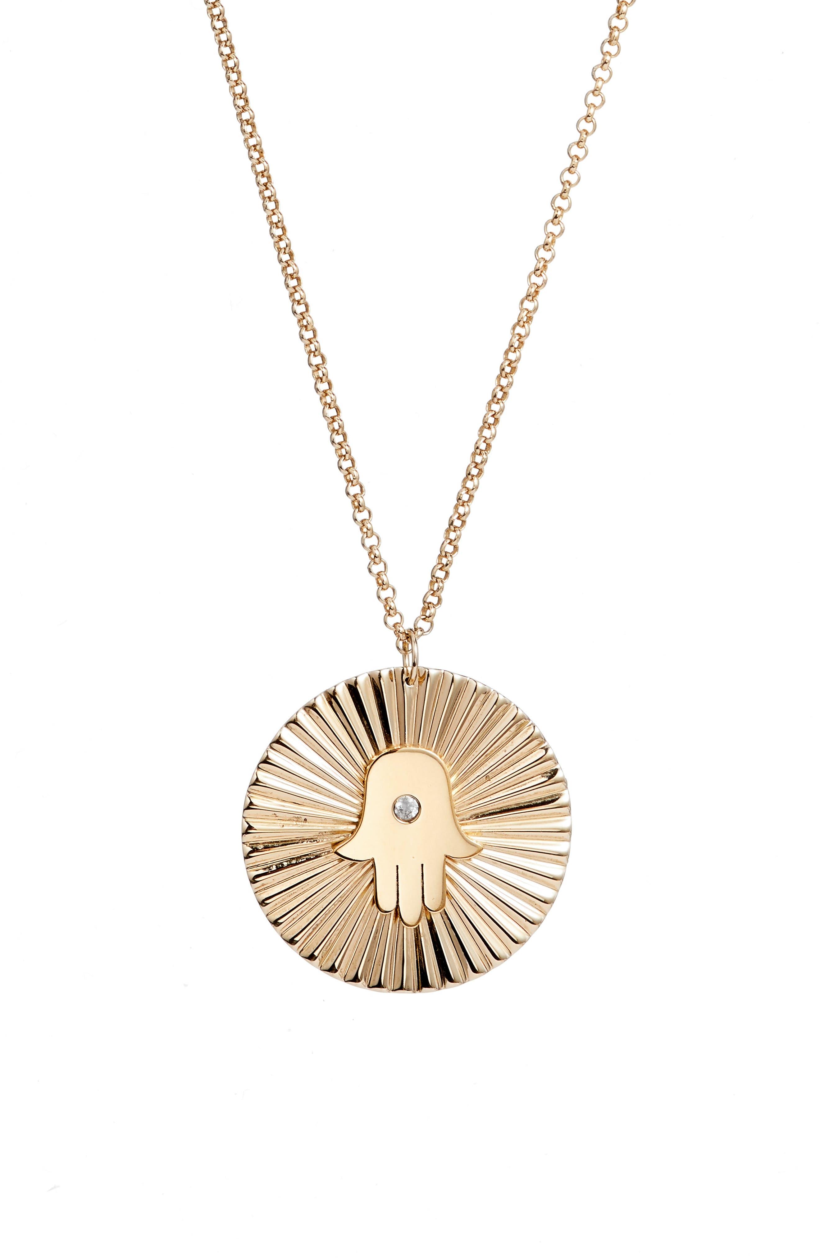 Iris Faith Diamond Pendant Necklace,                             Alternate thumbnail 2, color,                             YELLOW VERMEIL