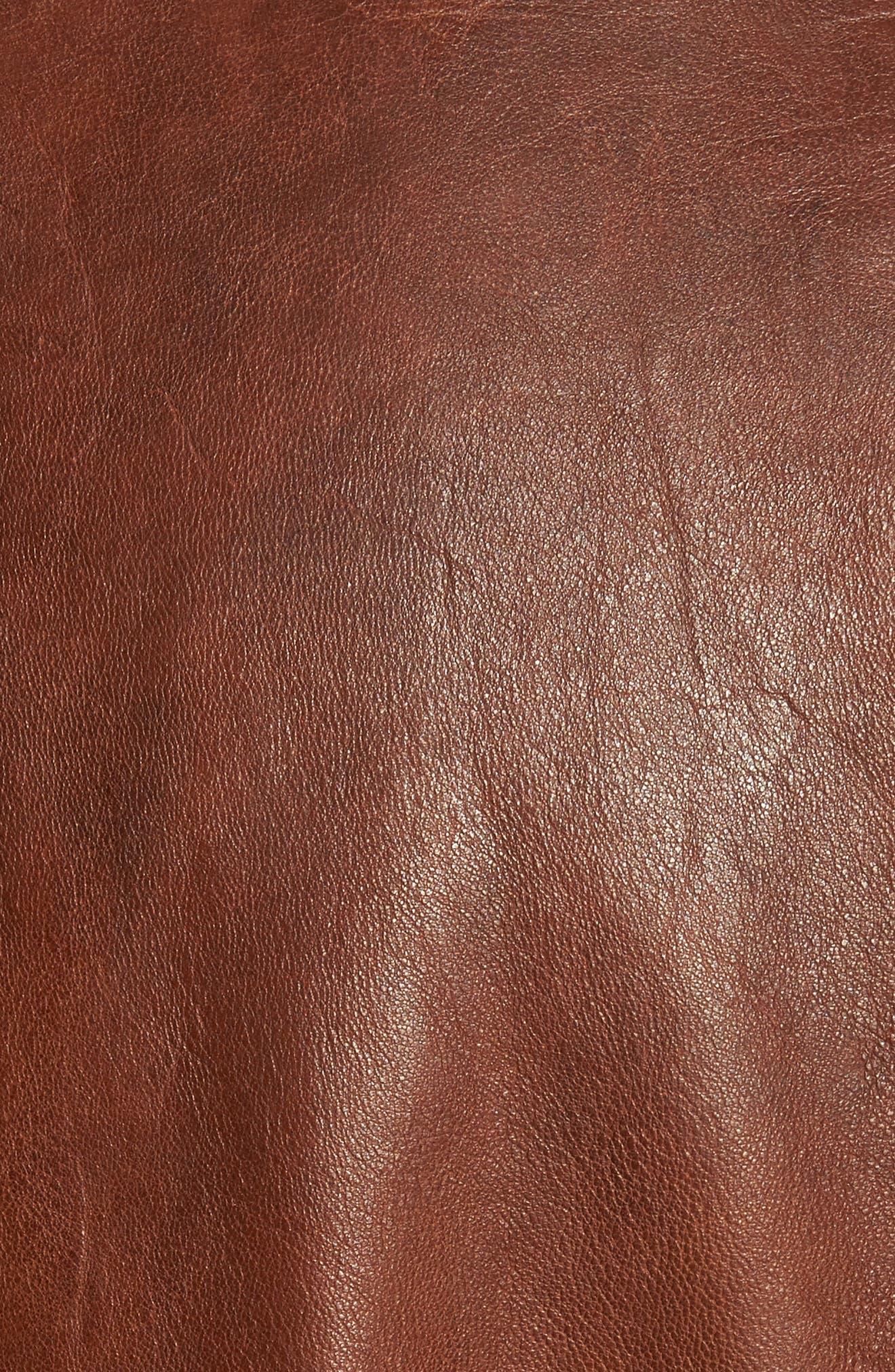 Leather Jacket,                             Alternate thumbnail 6, color,                             210
