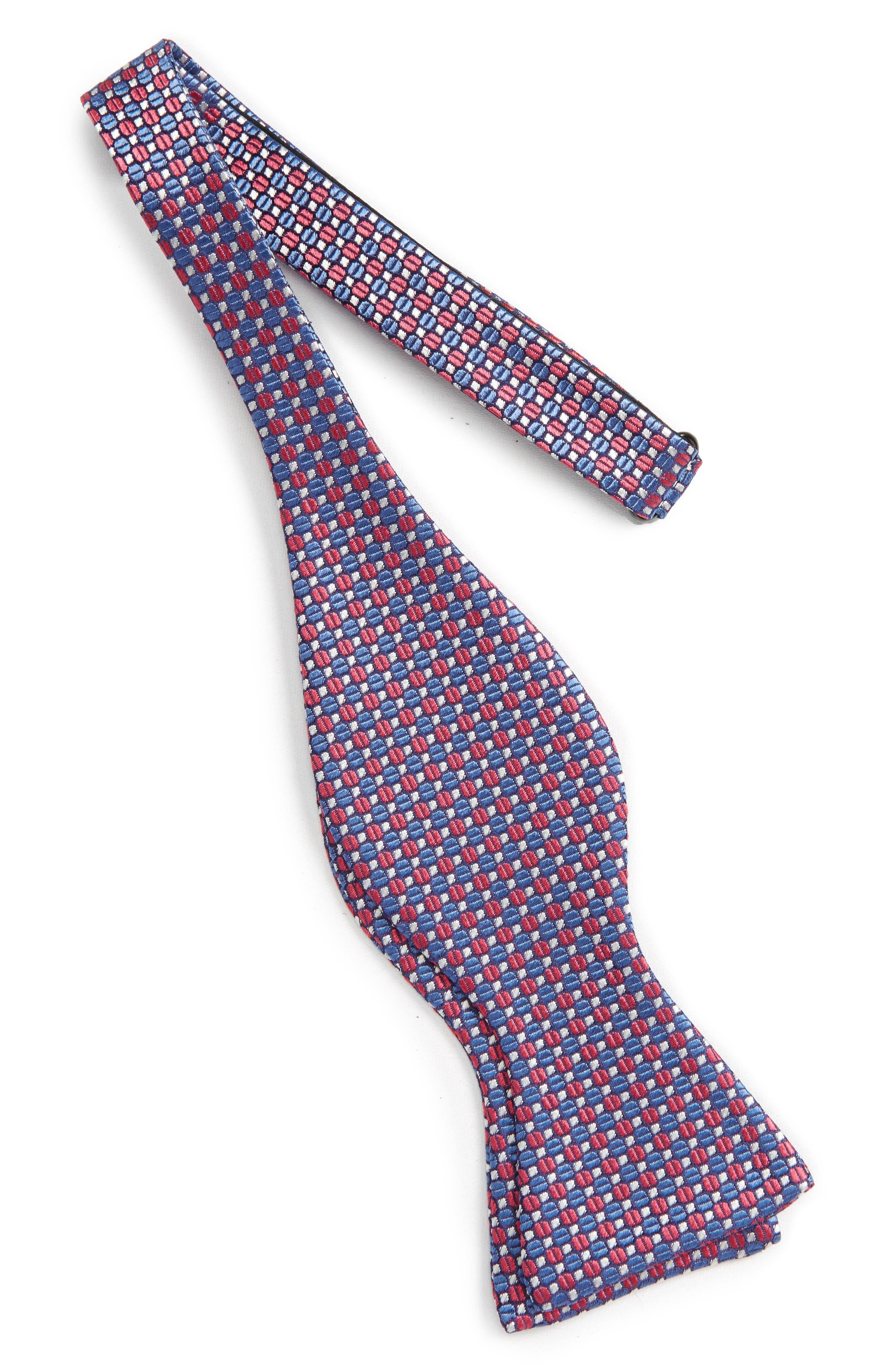 Geometric Silk Bow Tie,                             Alternate thumbnail 6, color,