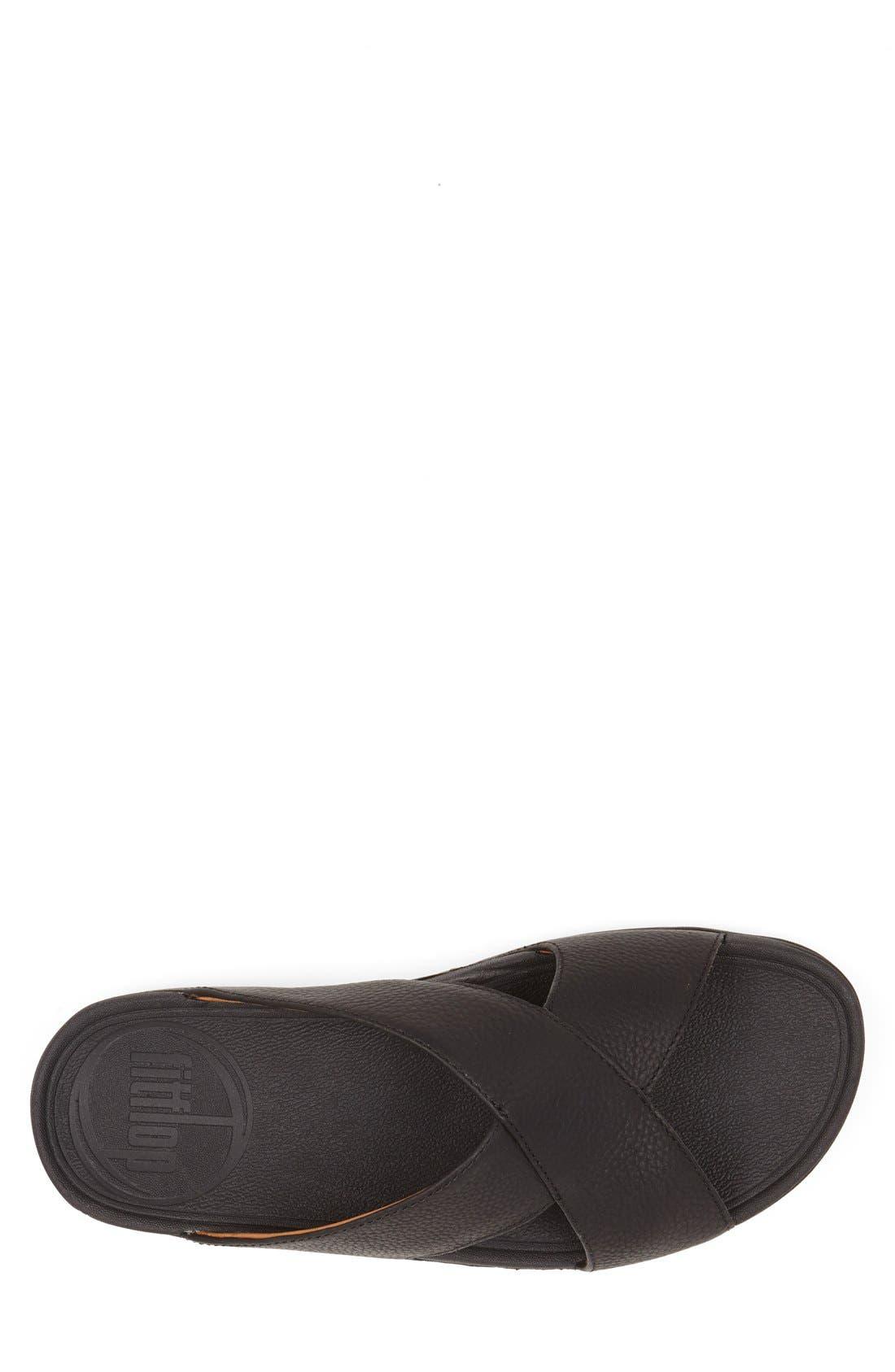 Xosa<sup>™</sup> Leather Slide Sandal,                             Alternate thumbnail 4, color,                             001