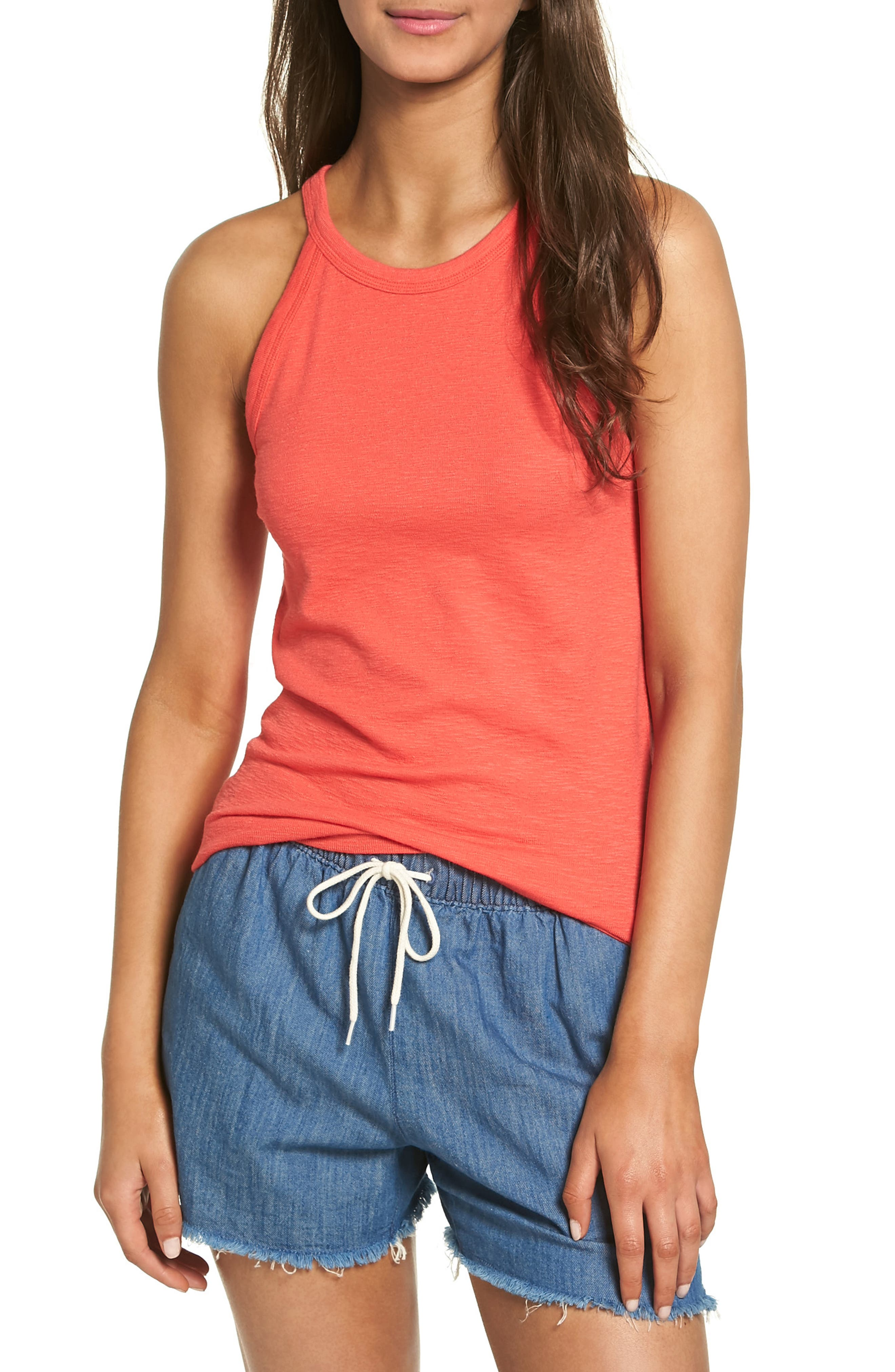 Timeoff High Neck Tank,                             Main thumbnail 3, color,