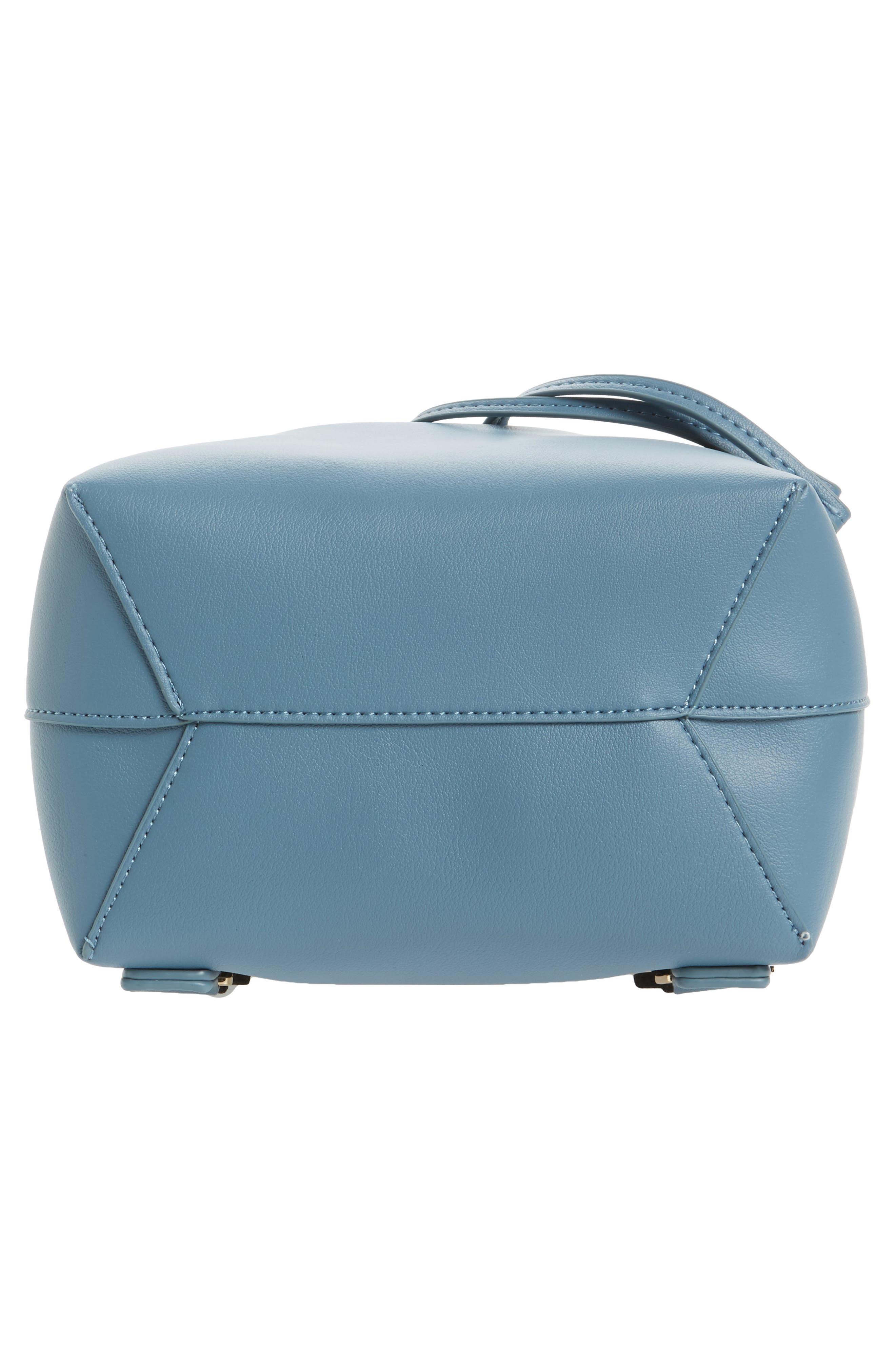 Blake Mini Faux Leather Backpack,                             Alternate thumbnail 12, color,