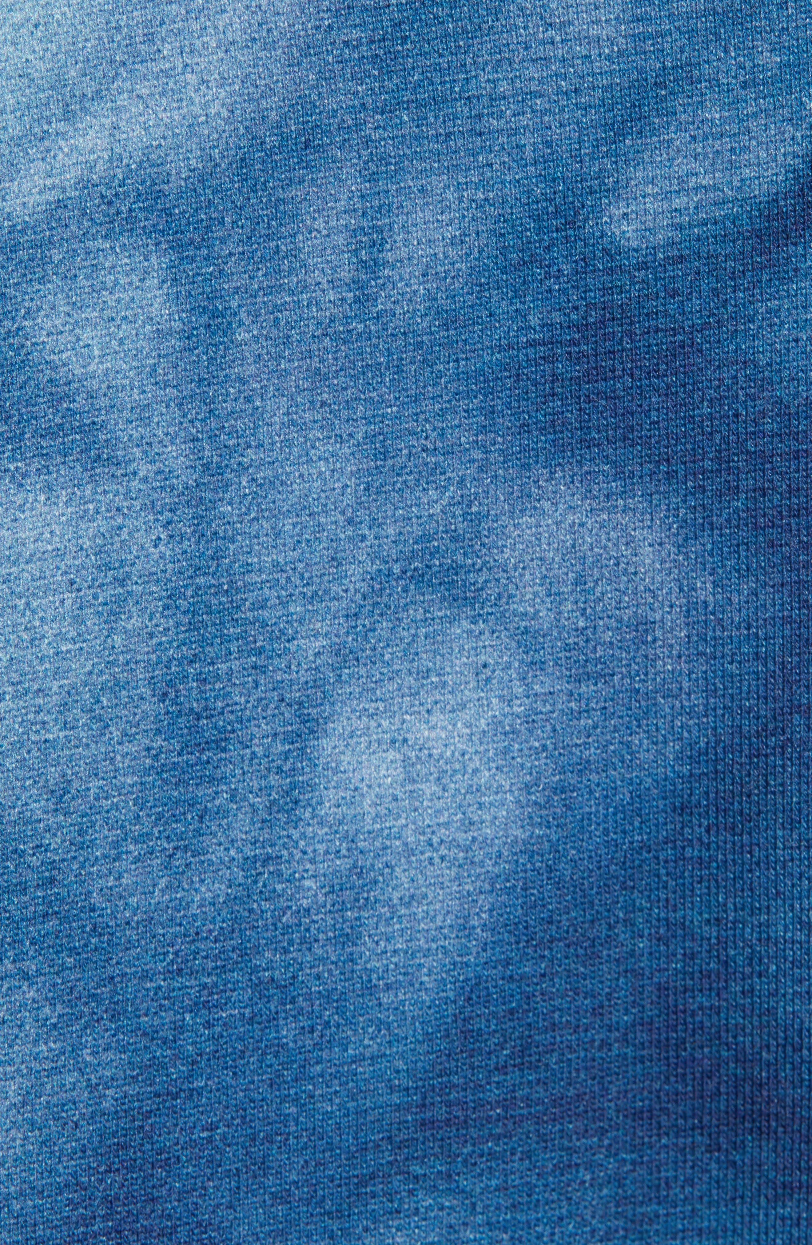 Cryrer Waterfall Hooded Sweatshirt,                             Alternate thumbnail 5, color,                             TEAL BLUE