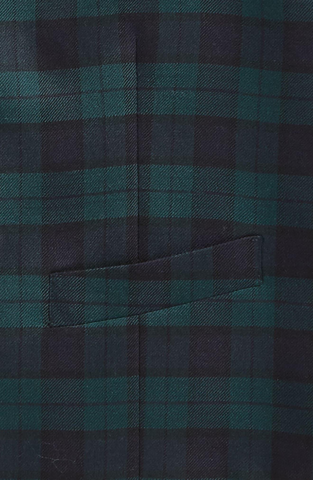 Plaid Wool Vest,                             Alternate thumbnail 2, color,                             400