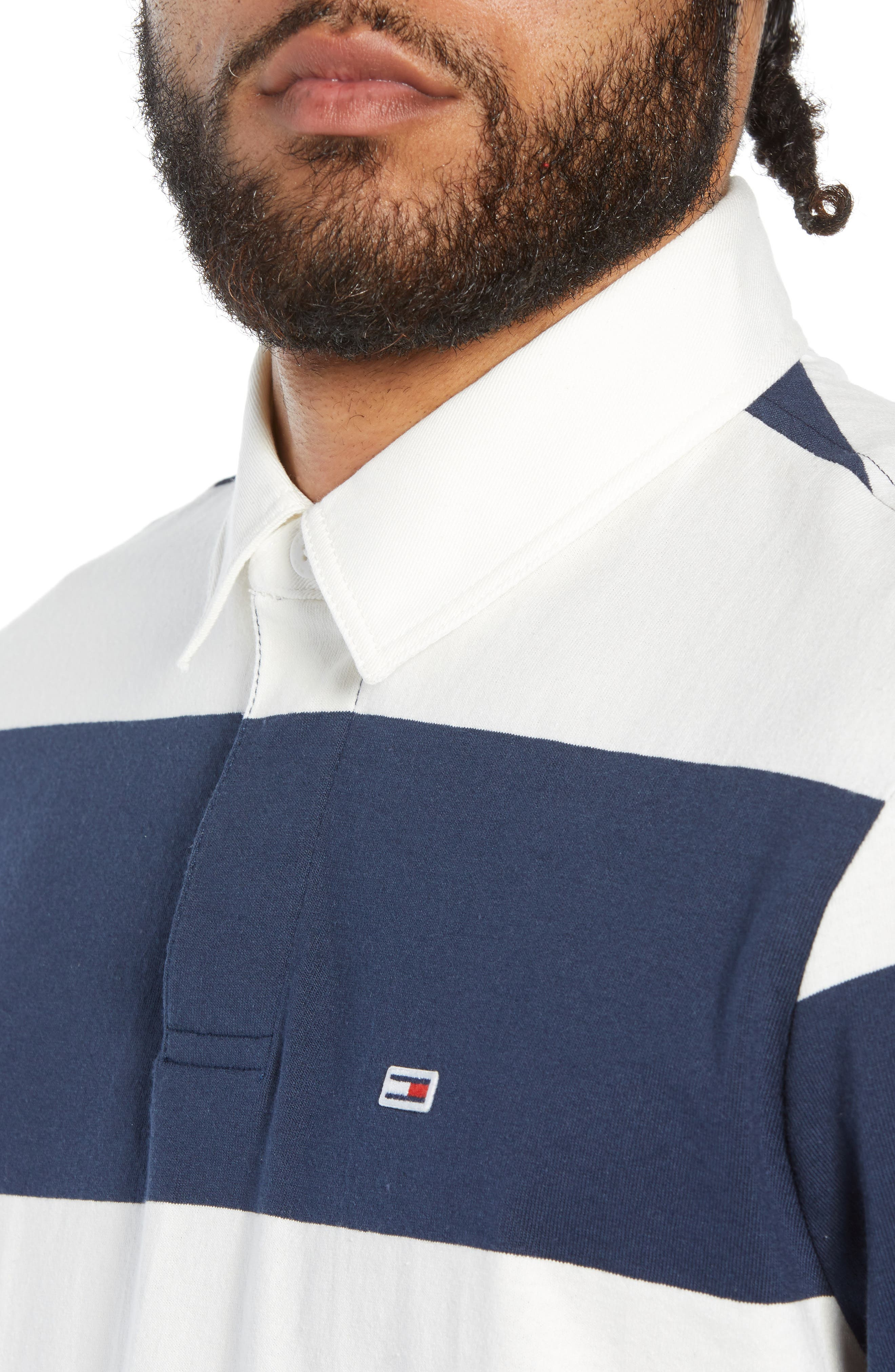 TJM Tommy Classics Rugby Shirt,                             Alternate thumbnail 4, color,                             100