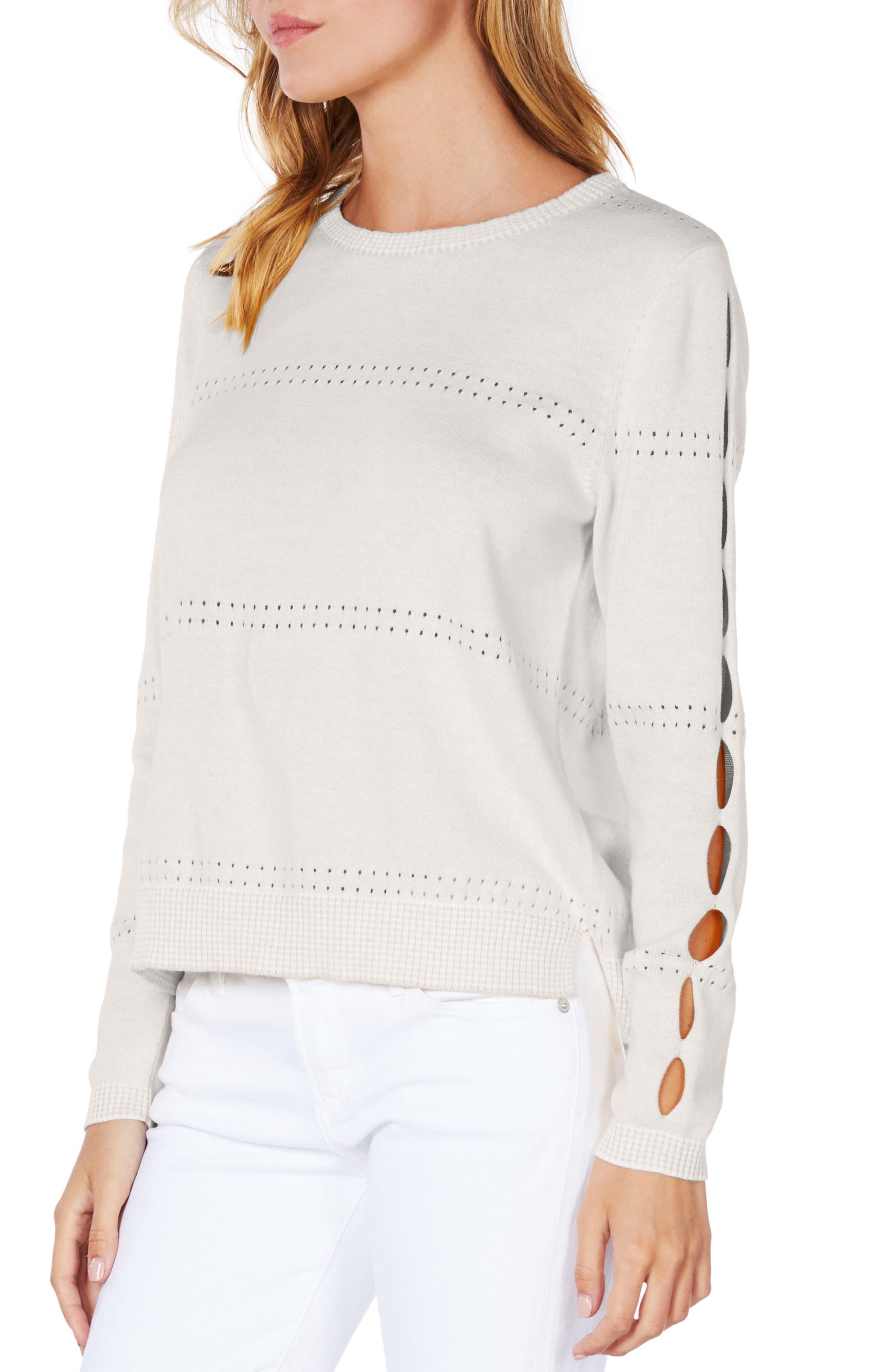 Slit Sleeve Reversible Sweater,                             Alternate thumbnail 4, color,