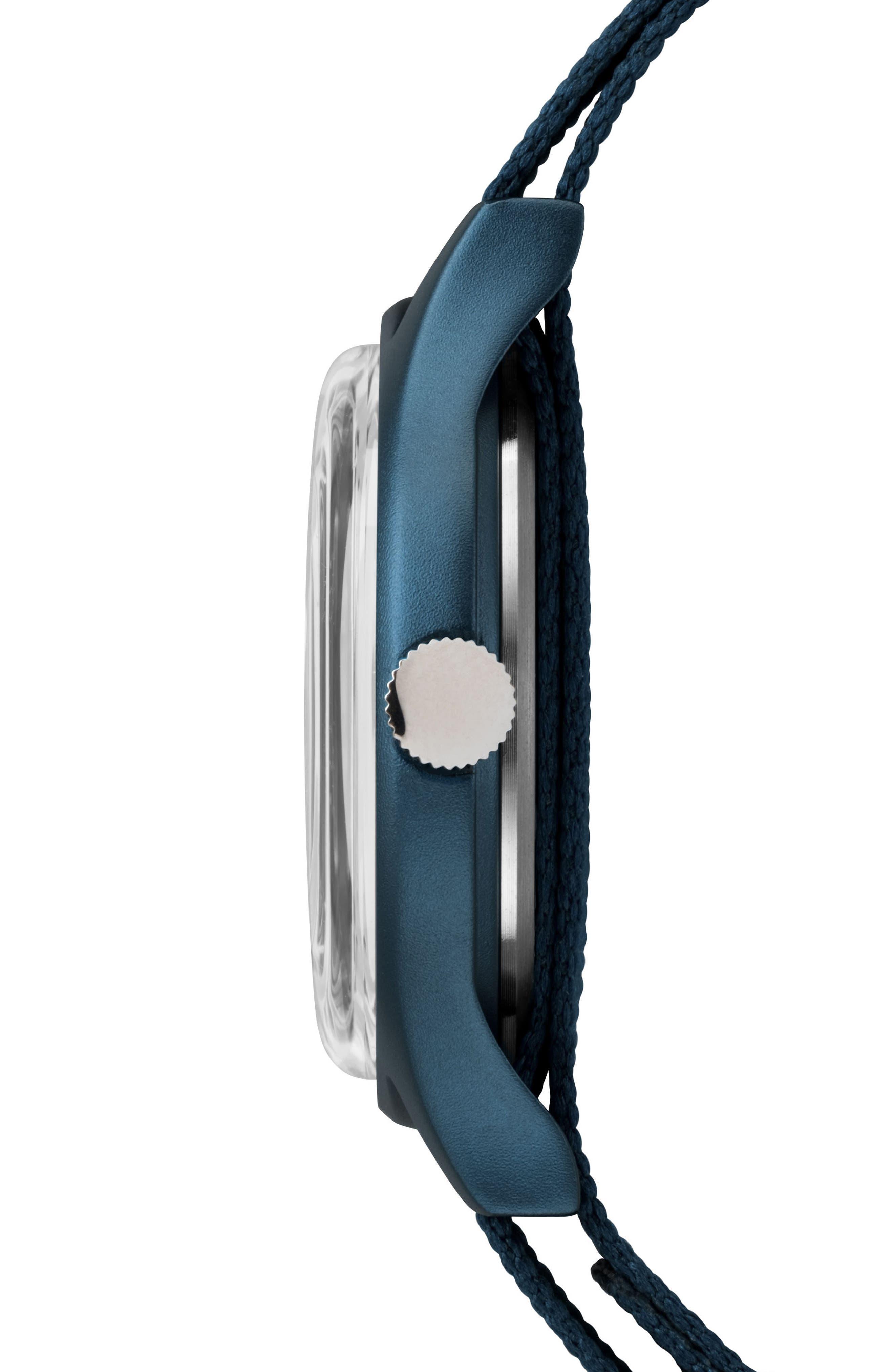 Timex MK1 Nylon Strap Watch, 40mm,                             Alternate thumbnail 2, color,                             BLUE