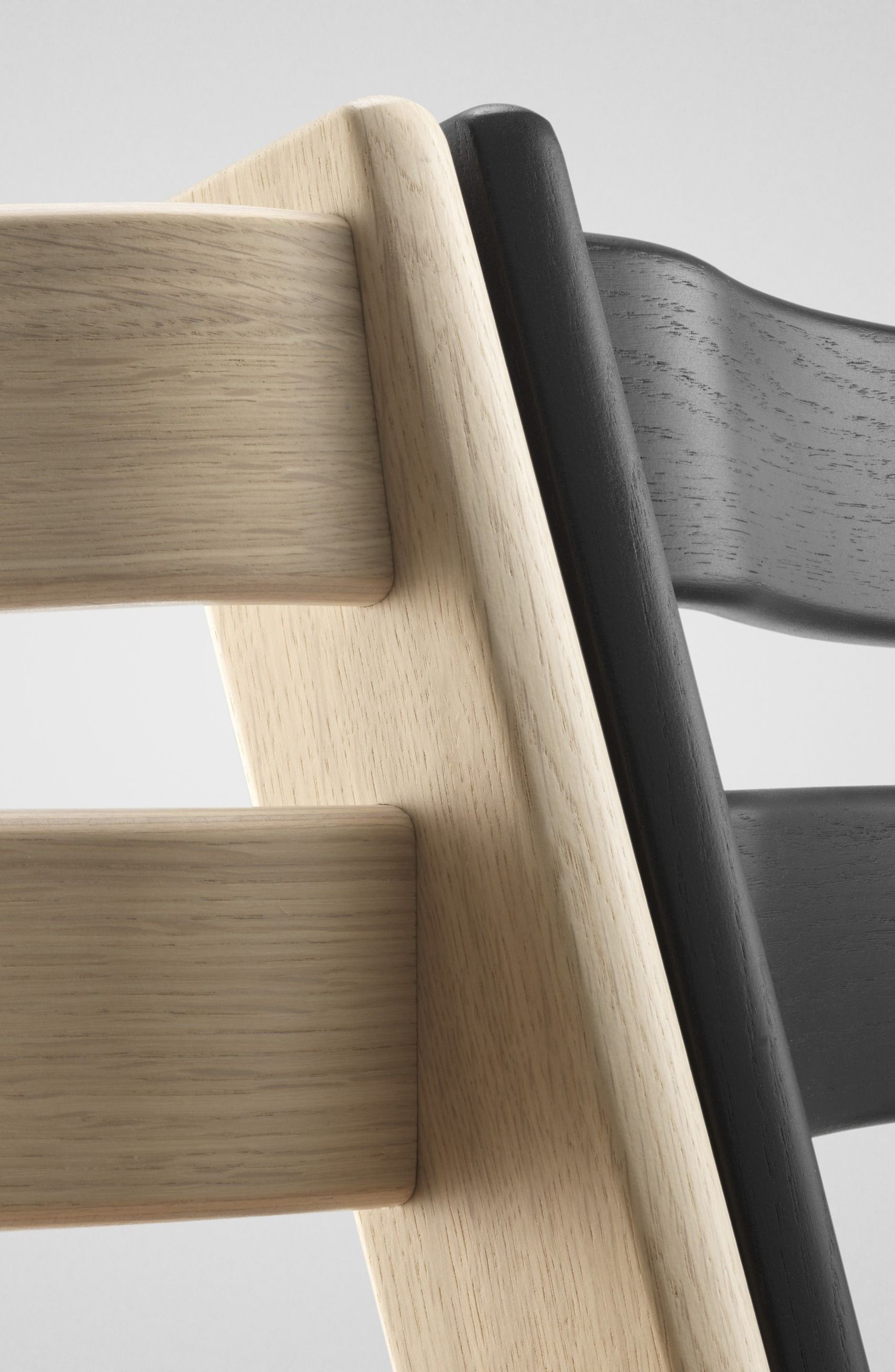 Tripp Trapp<sup>®</sup> Limited Edition Oak Chair,                             Alternate thumbnail 2, color,                             BLACK