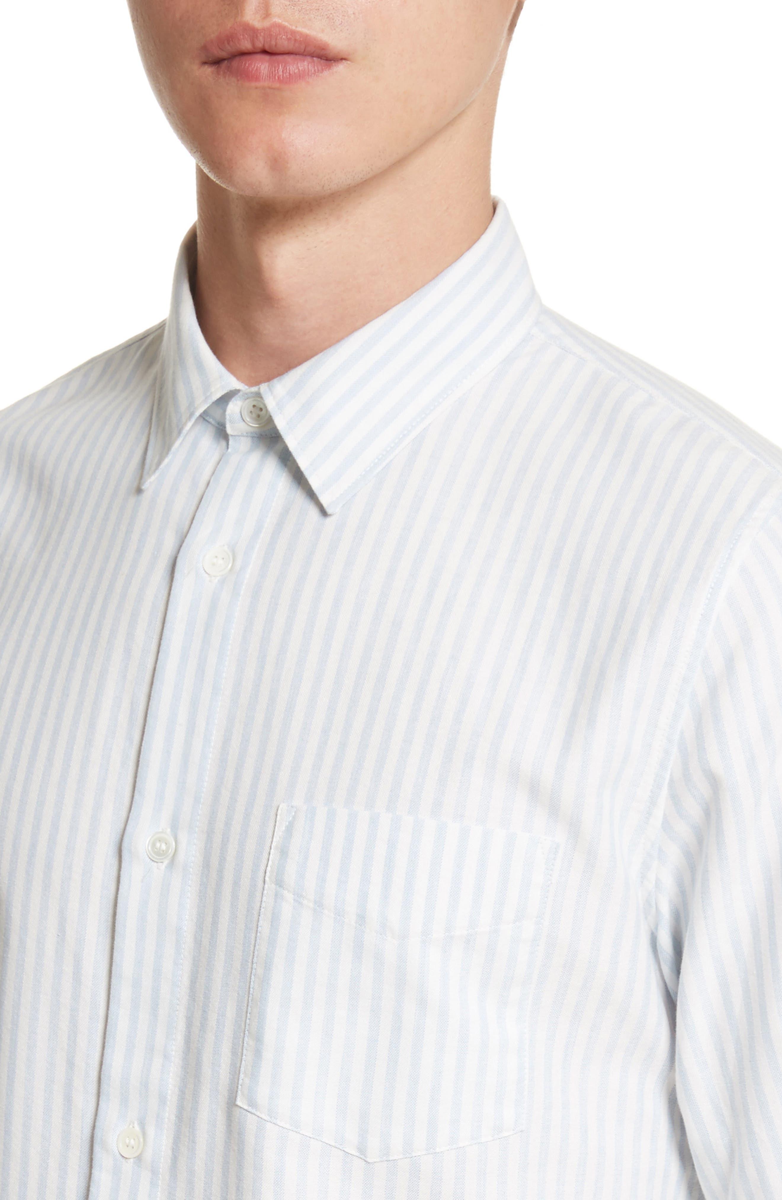 Oliver Stripe Oxford Shirt,                             Alternate thumbnail 4, color,                             430