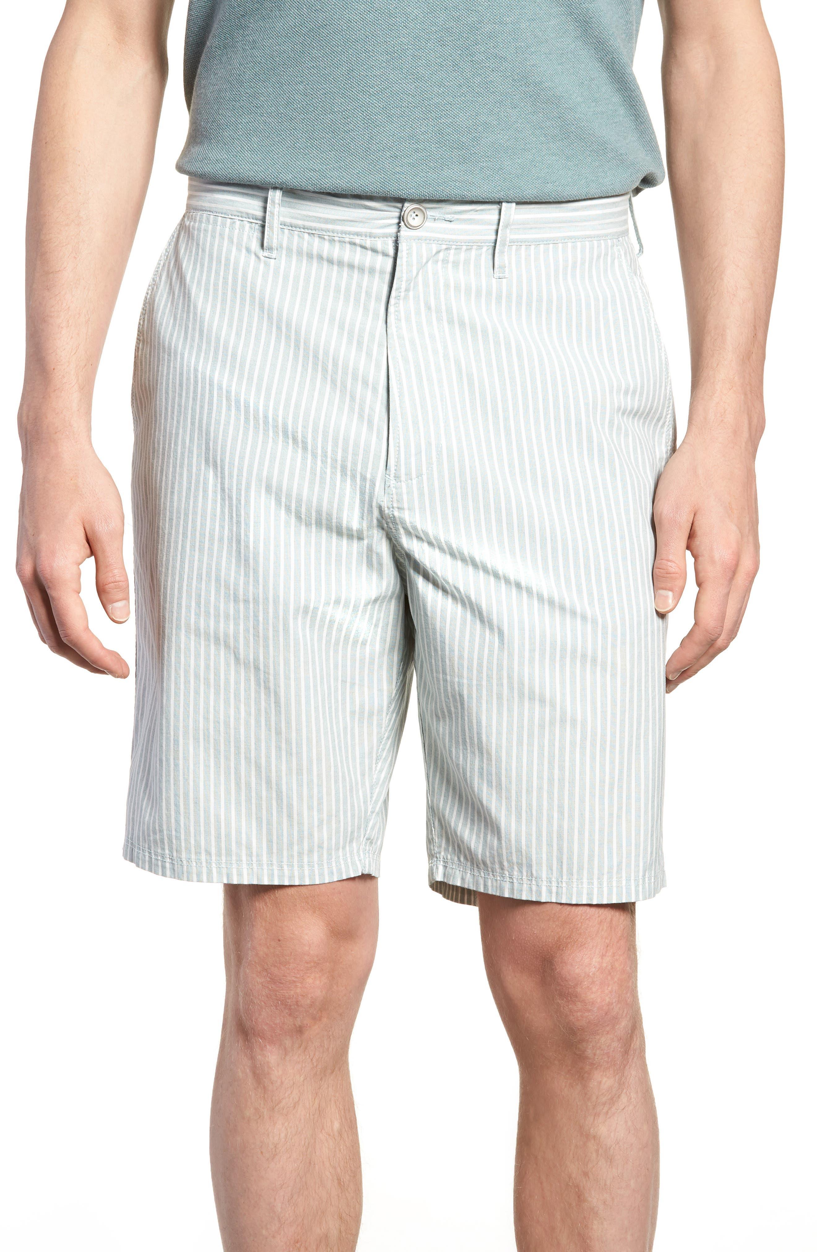 Preston Regular Fit Flat Front Shorts,                         Main,                         color, PINE