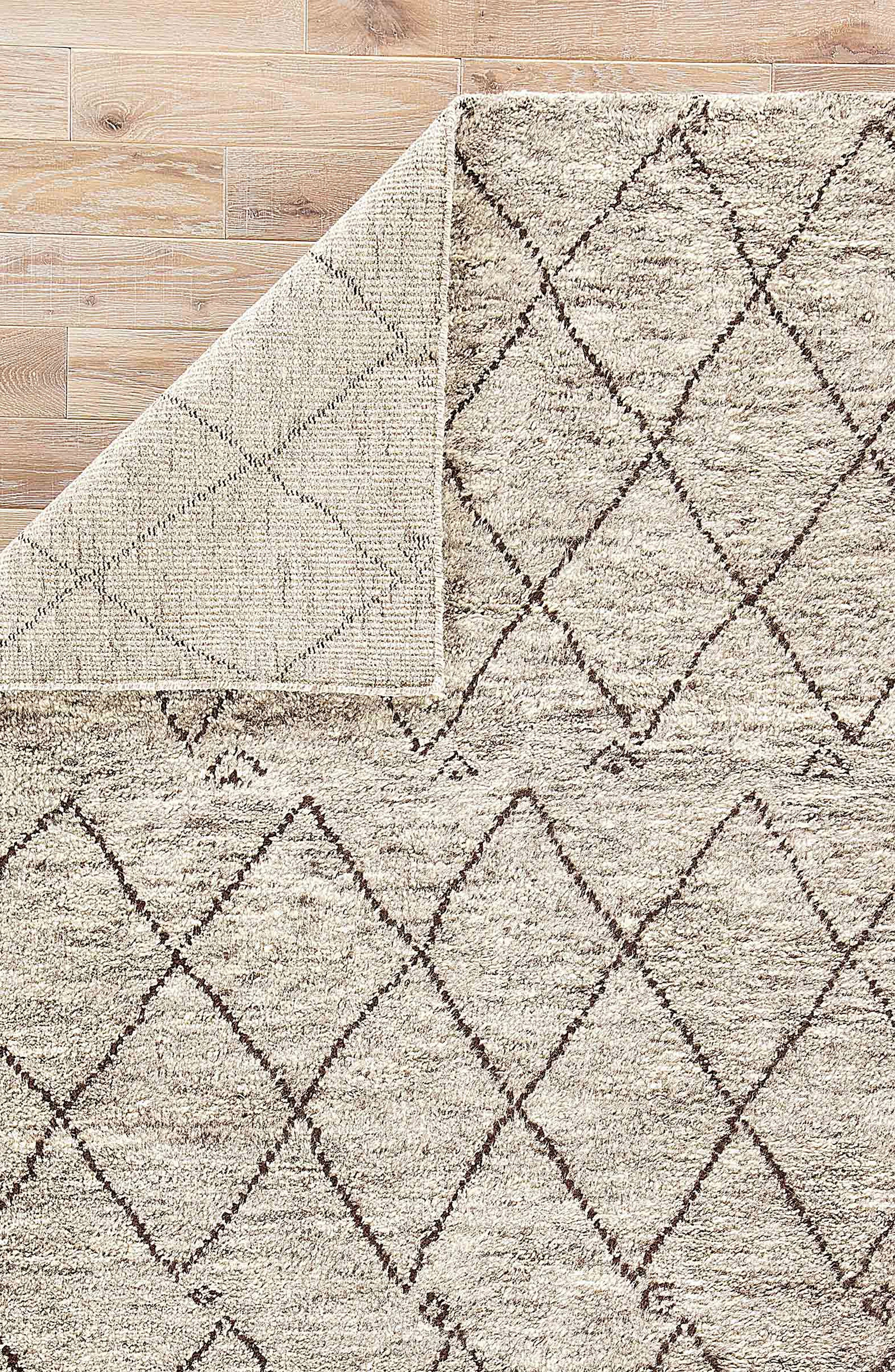 'Zola' Hand Knotted Wool Rug,                             Alternate thumbnail 2, color,                             NATURAL/ BROWN