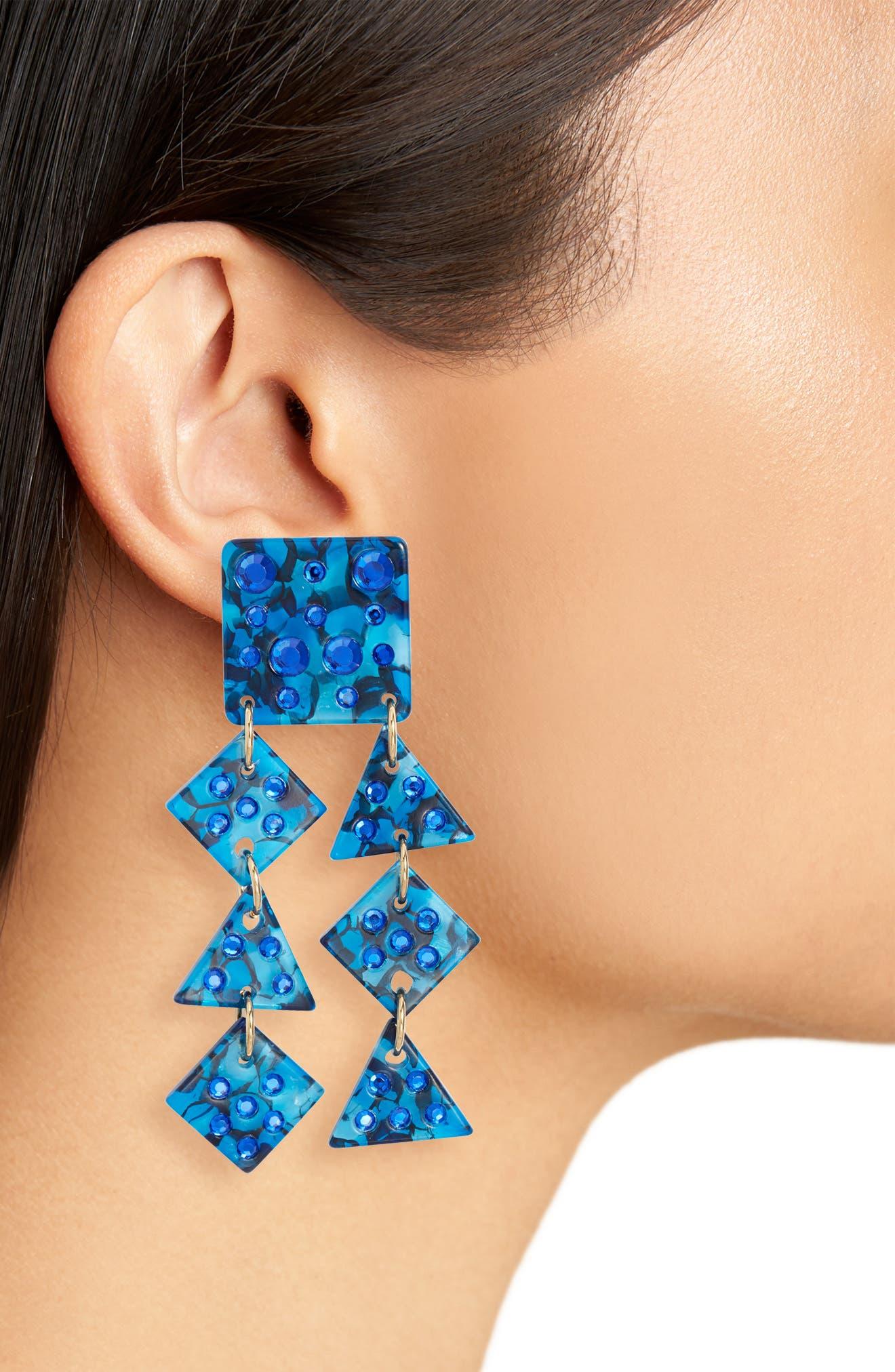 Spotlight Chandelier Earrings,                             Alternate thumbnail 2, color,                             SAPPHIRE