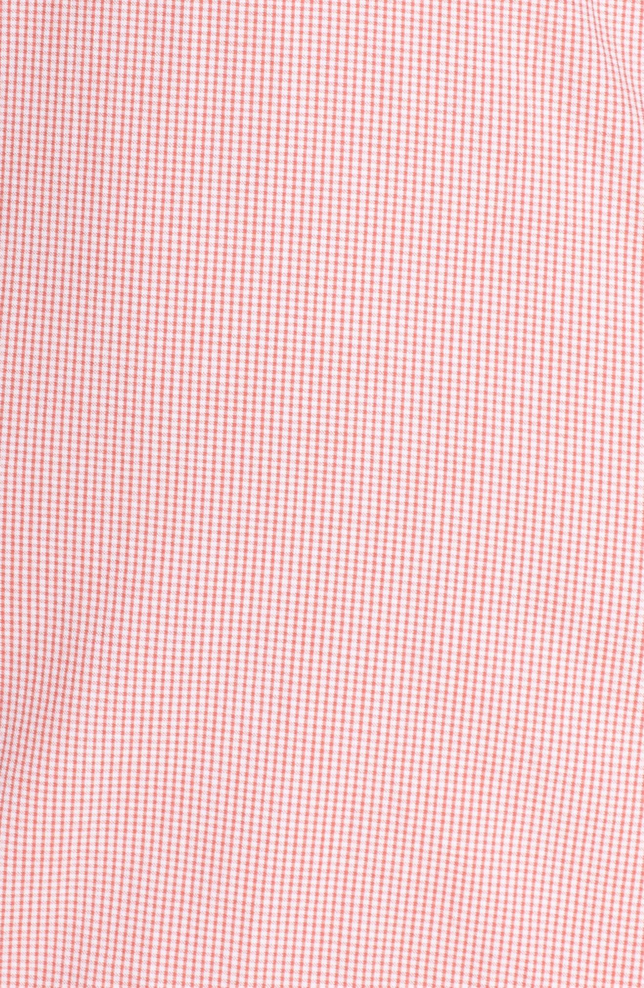 Ruffle V-Neck Sheath Dress,                             Alternate thumbnail 6, color,