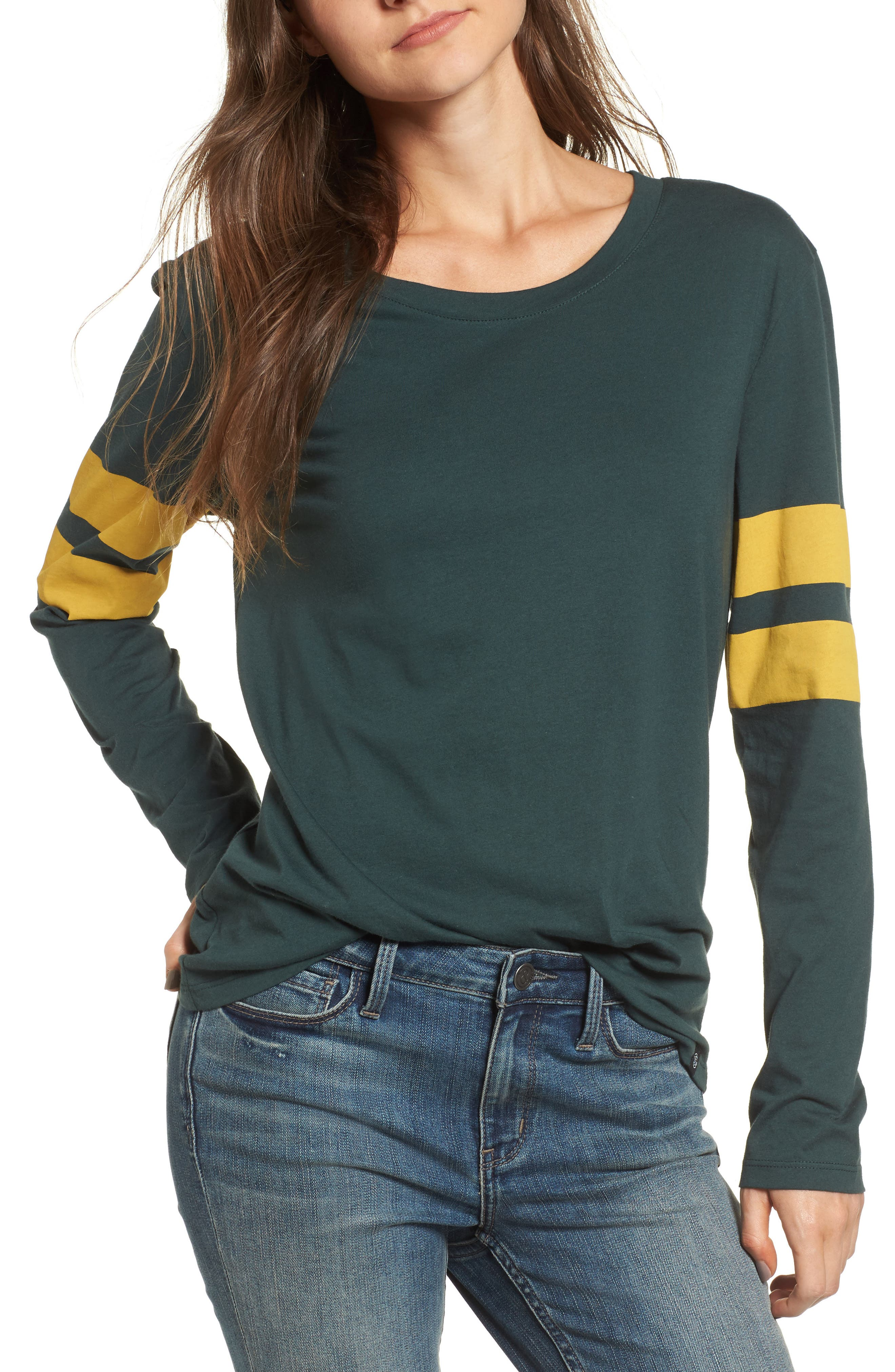 Varsity Stripe Cotton Tee,                             Main thumbnail 10, color,