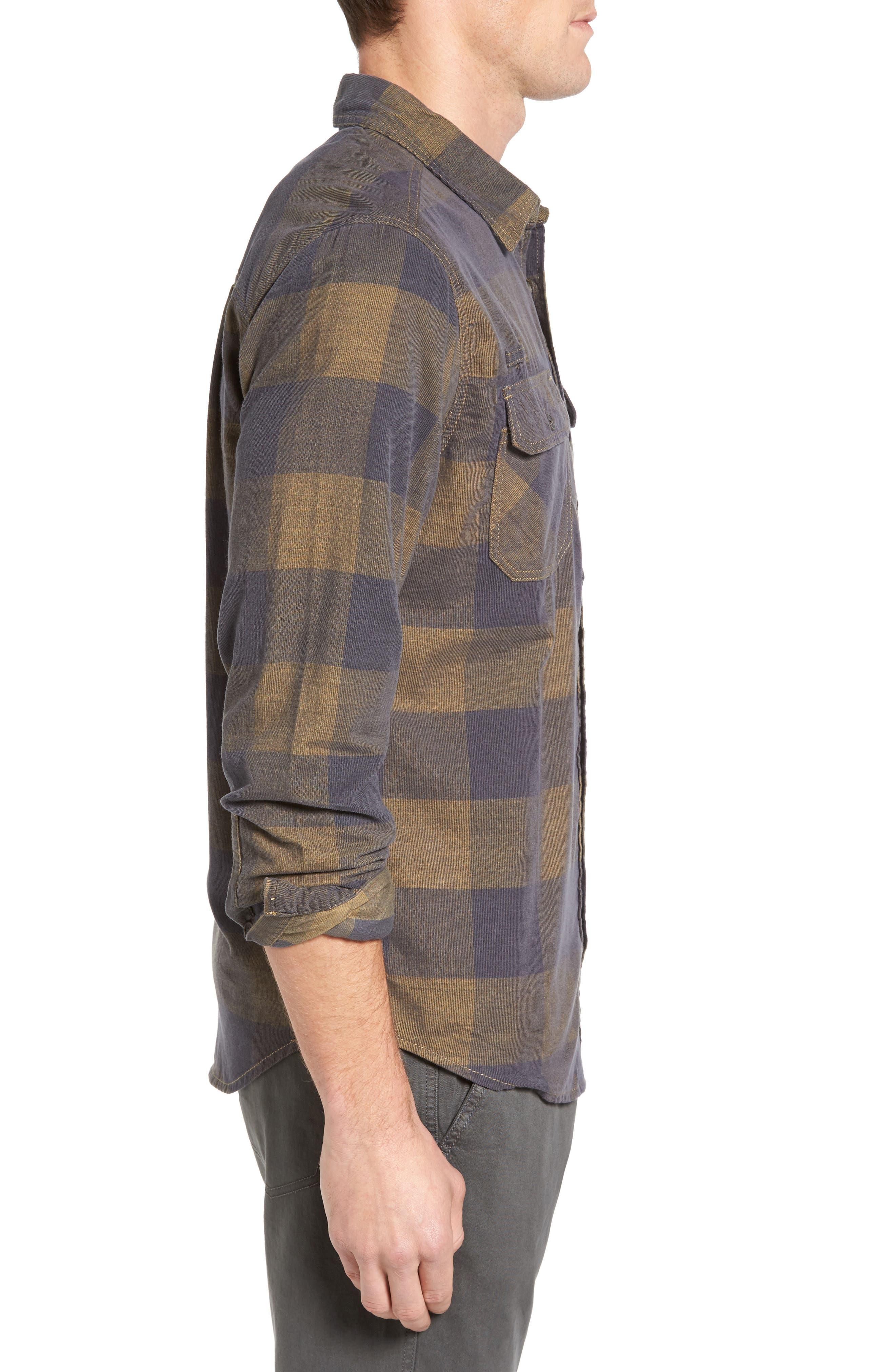 Knock on My Door Regular Fit Check Corduroy Shirt,                             Alternate thumbnail 7, color,