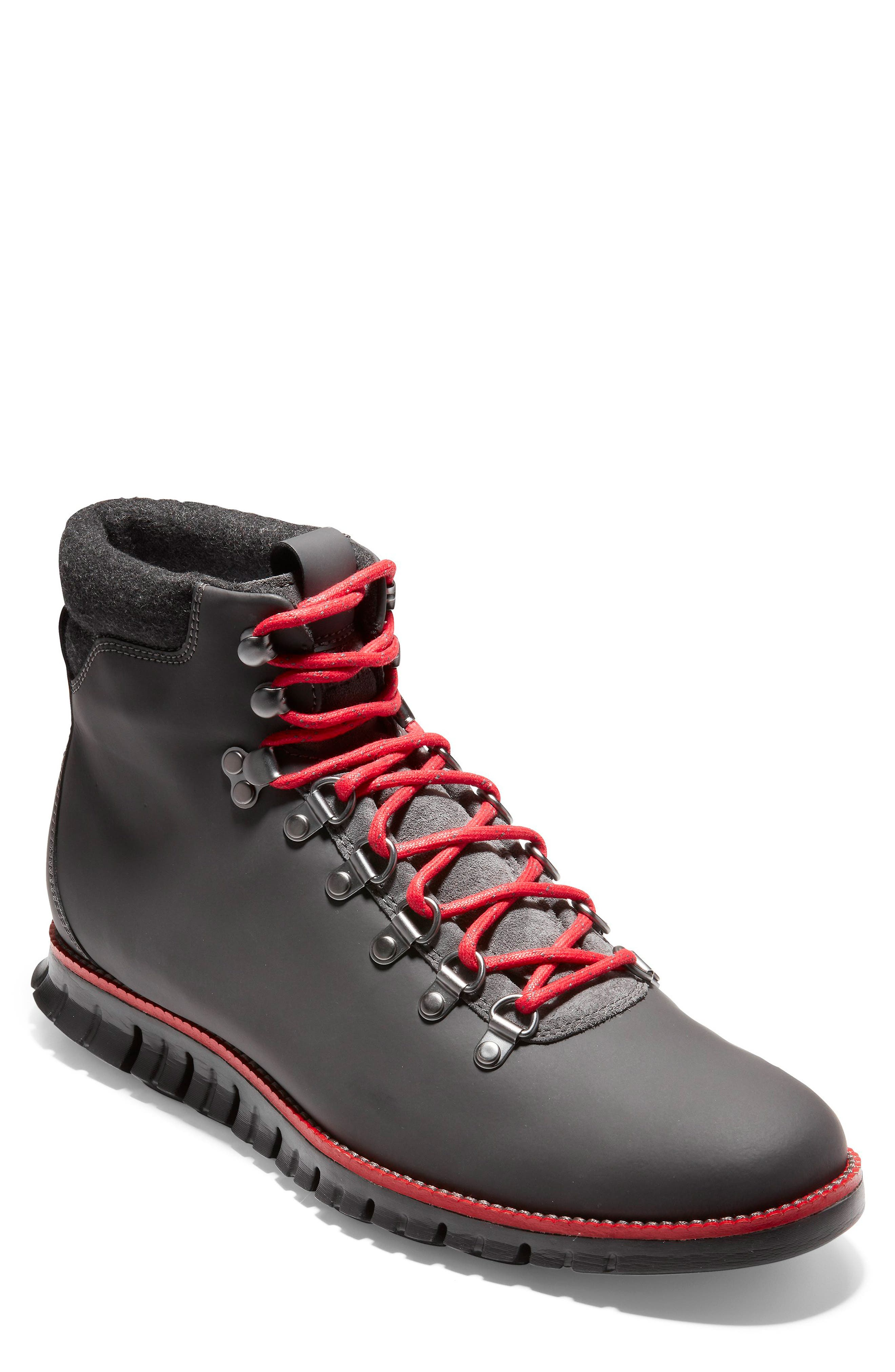 ZeroGrand Water Resistant Hiker Boot,                             Main thumbnail 1, color,                             MAGNET LEATHER